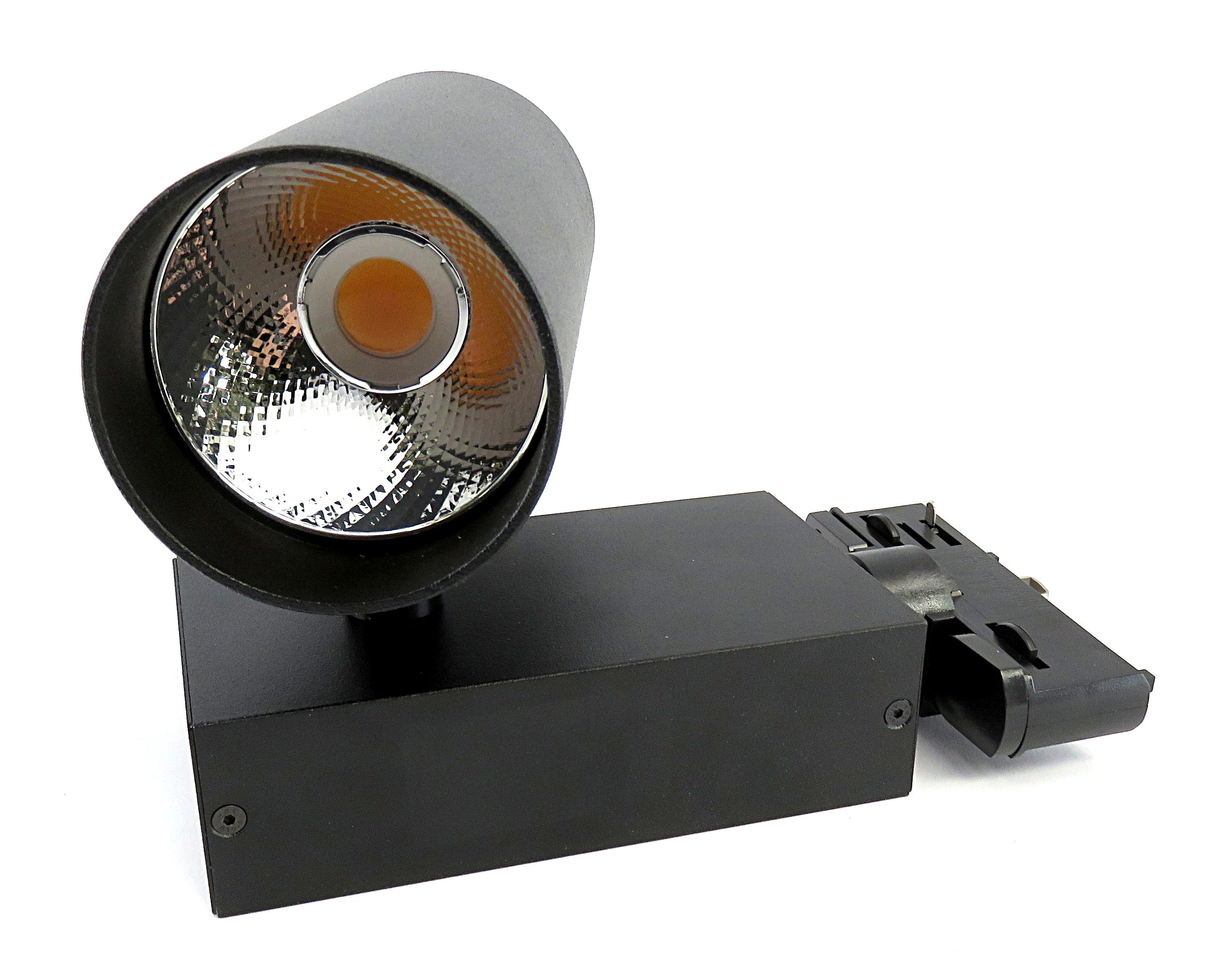 Optelma Dosk 2000 Lumen Track Spotlight w/ 2700K Artist LED Engine 20' in Black