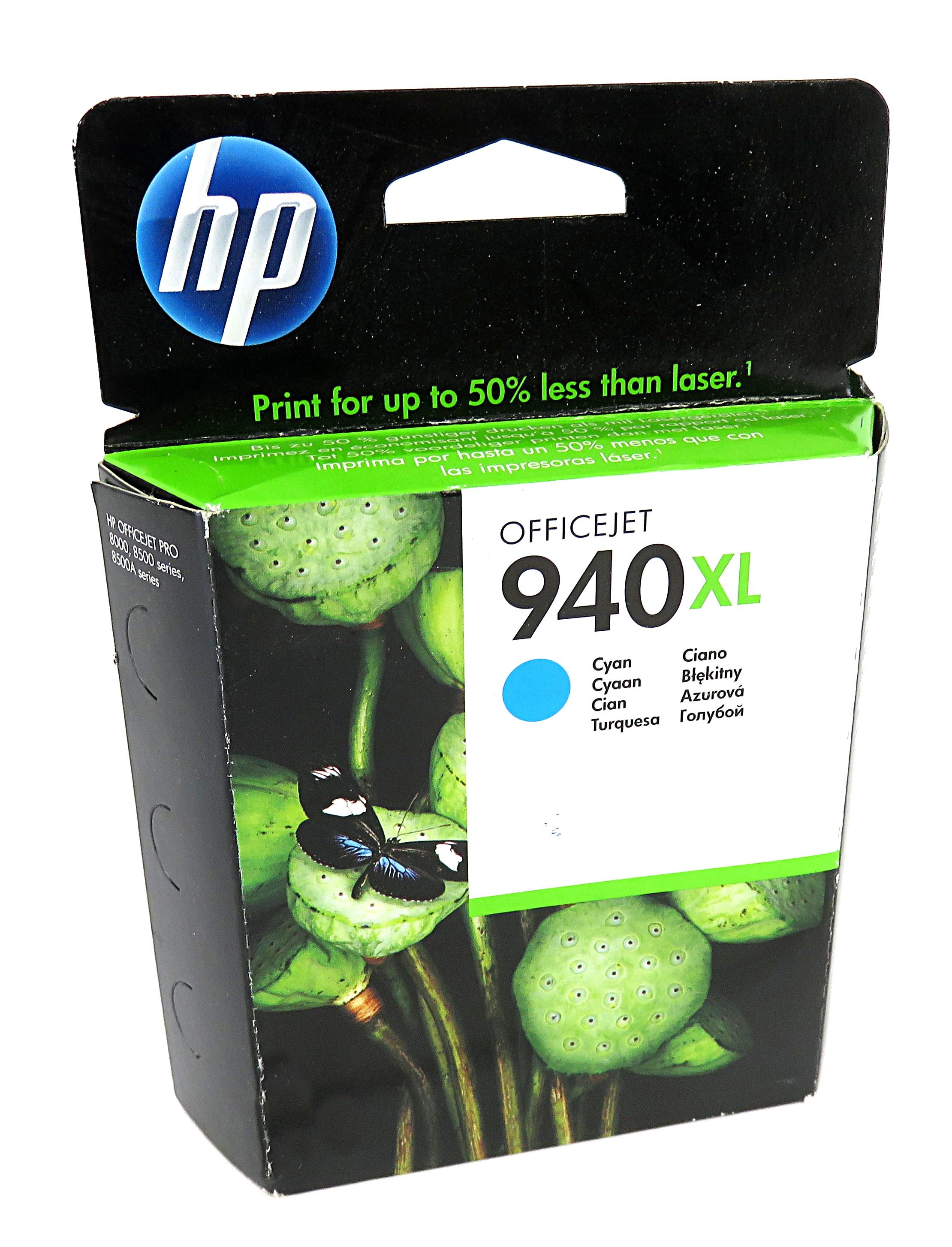 New Genuine HP C4907AE/940XL High-Capacity Cyan Ink Cartridge - Expired Stock