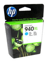 New Genuine HP C4907AE/940XL High-Capacity Cyan Ink Cartridge - Expired Stock