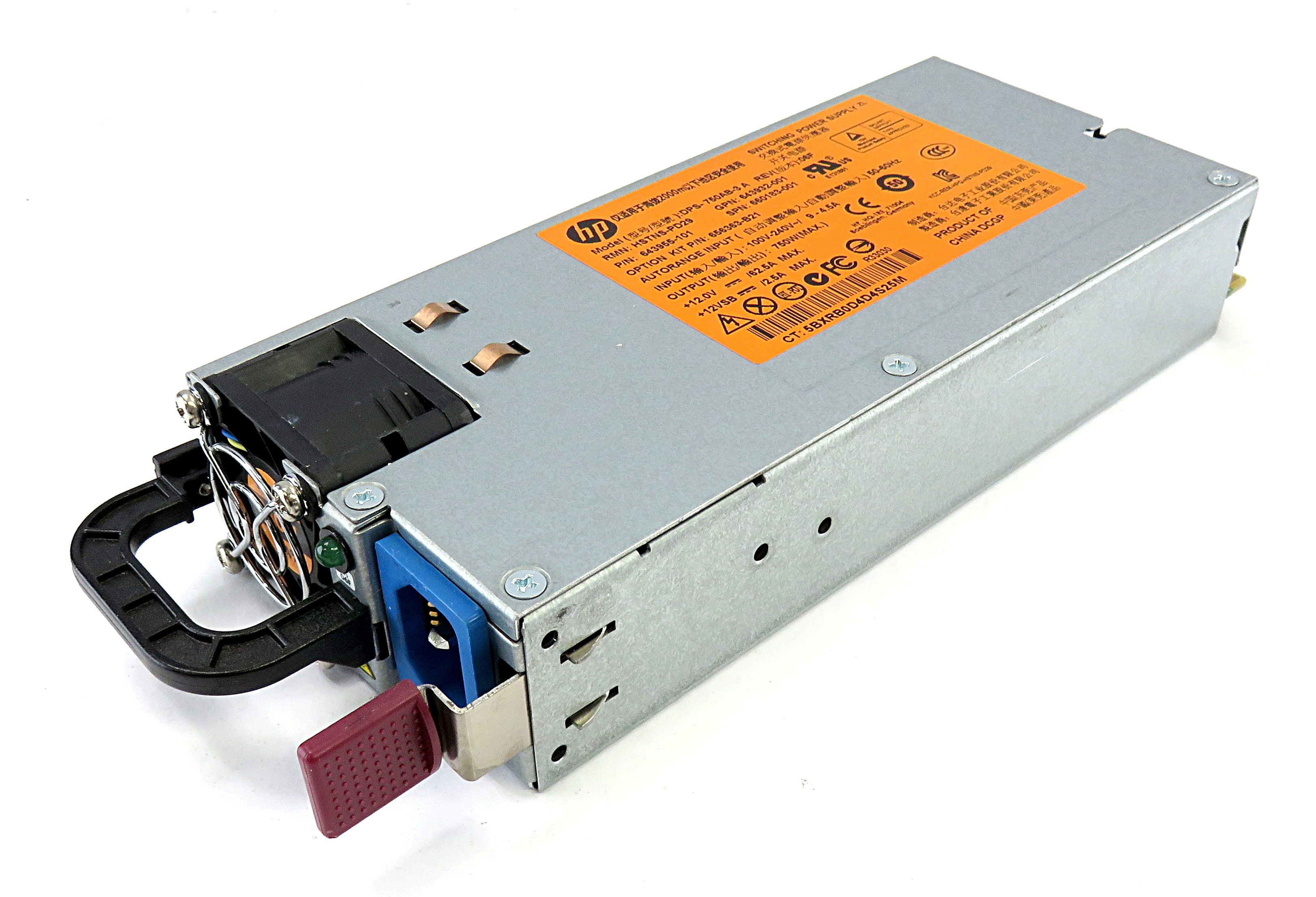 HP 660183-001 750W HSTNS-PD29 Power Supply 643955-101 f/ StoreVirtual 4530