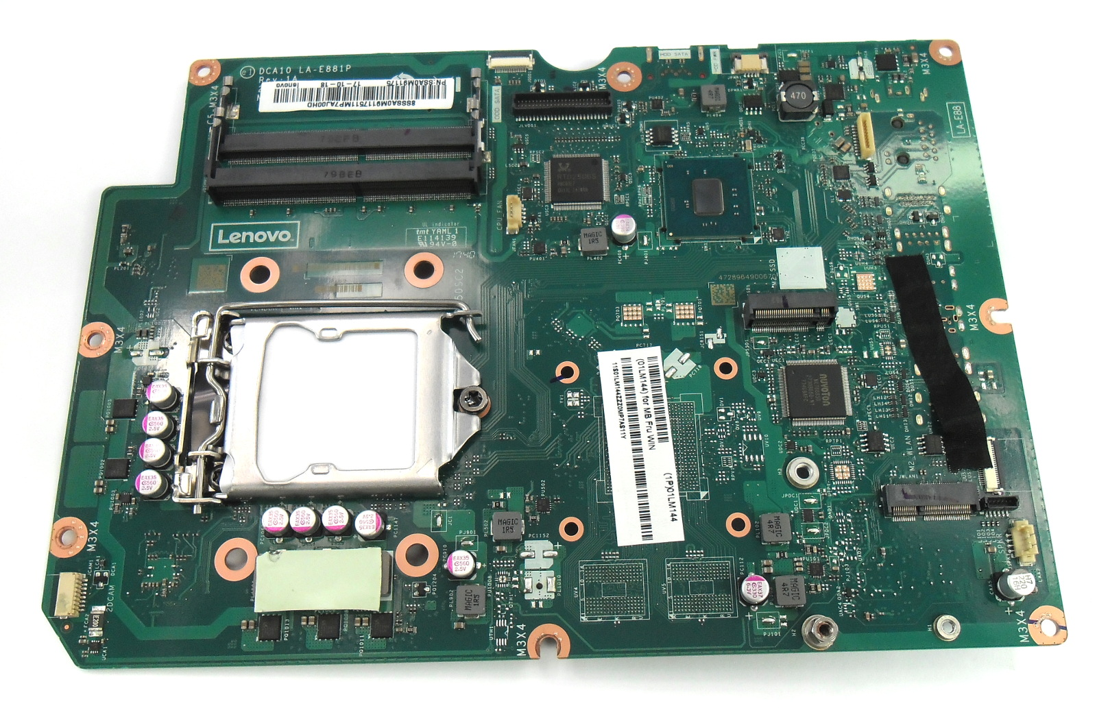 01LM144 Lenovo IdeaCentre AIO PC 520-24IKL Motherboard DCA10 LA-881P