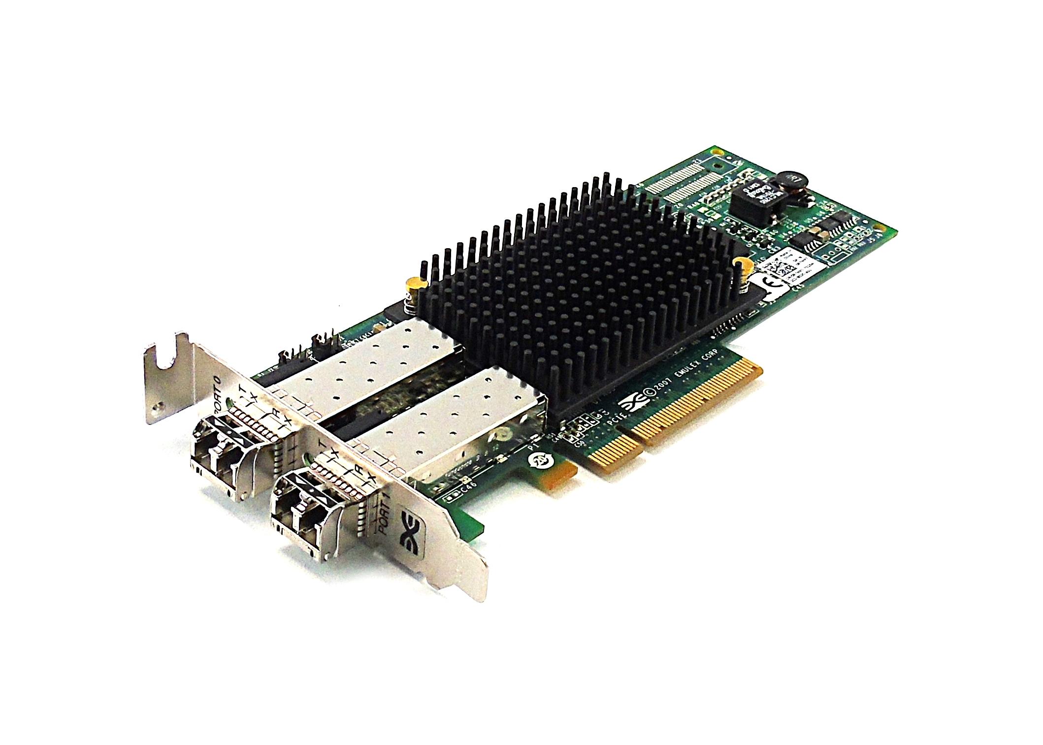 Dell R7WP7 Emulex LPE12002 PCI-e Dual Fibre Channel 8Gb/s LP Host Bus Adapter