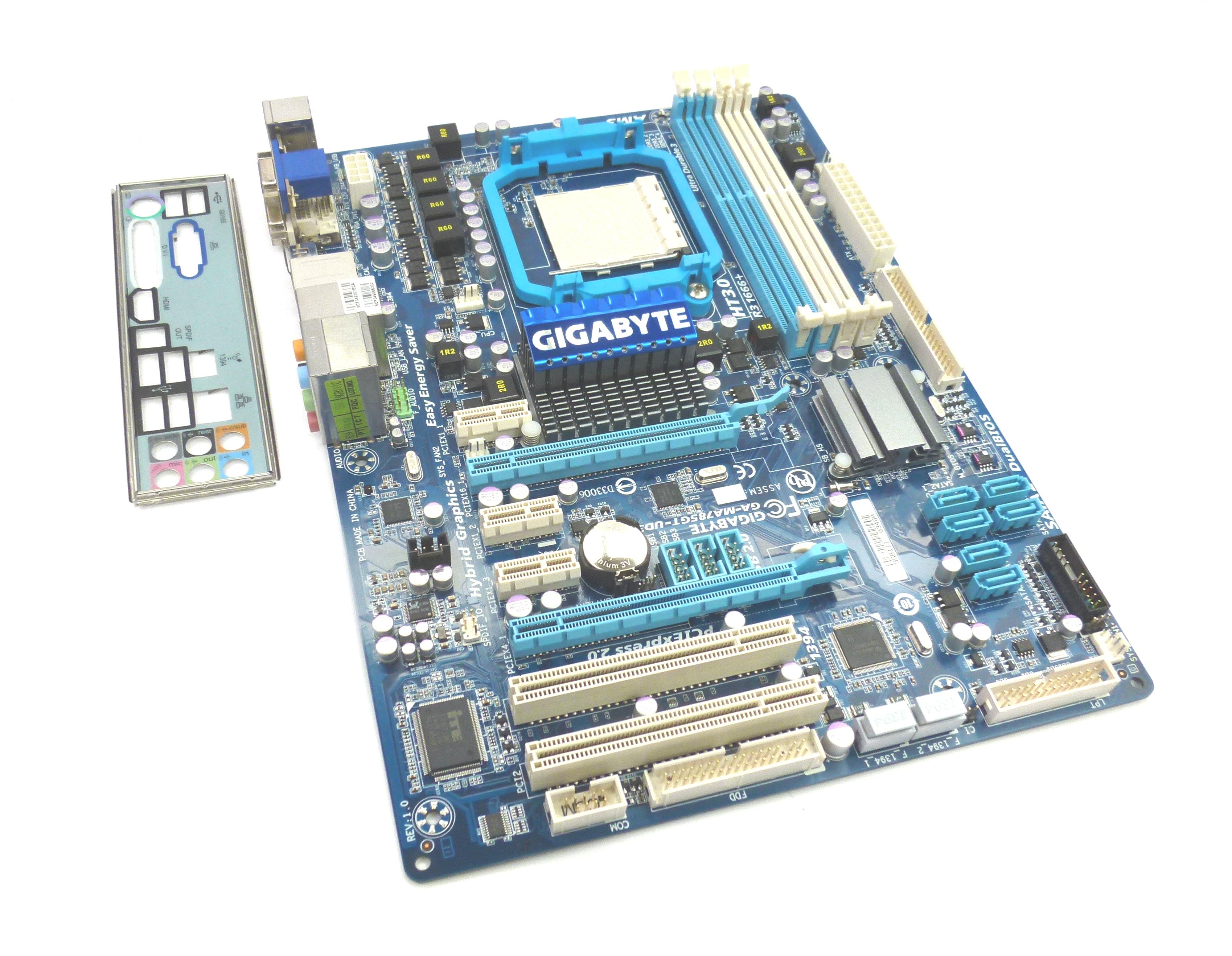 Gigabyte GA-MA785GT-UD3H Socket AM3 DDR3 Radeon HD 4200 ATX Motherboard