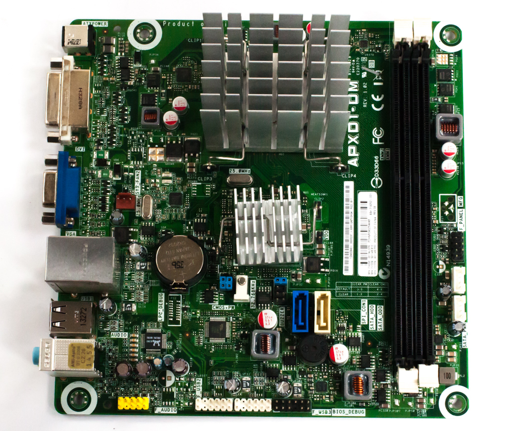 HP 714252-001 APXD1-DM REV.1.02 mITX Motherboard w/ Integrated AMD E1-1500 APU