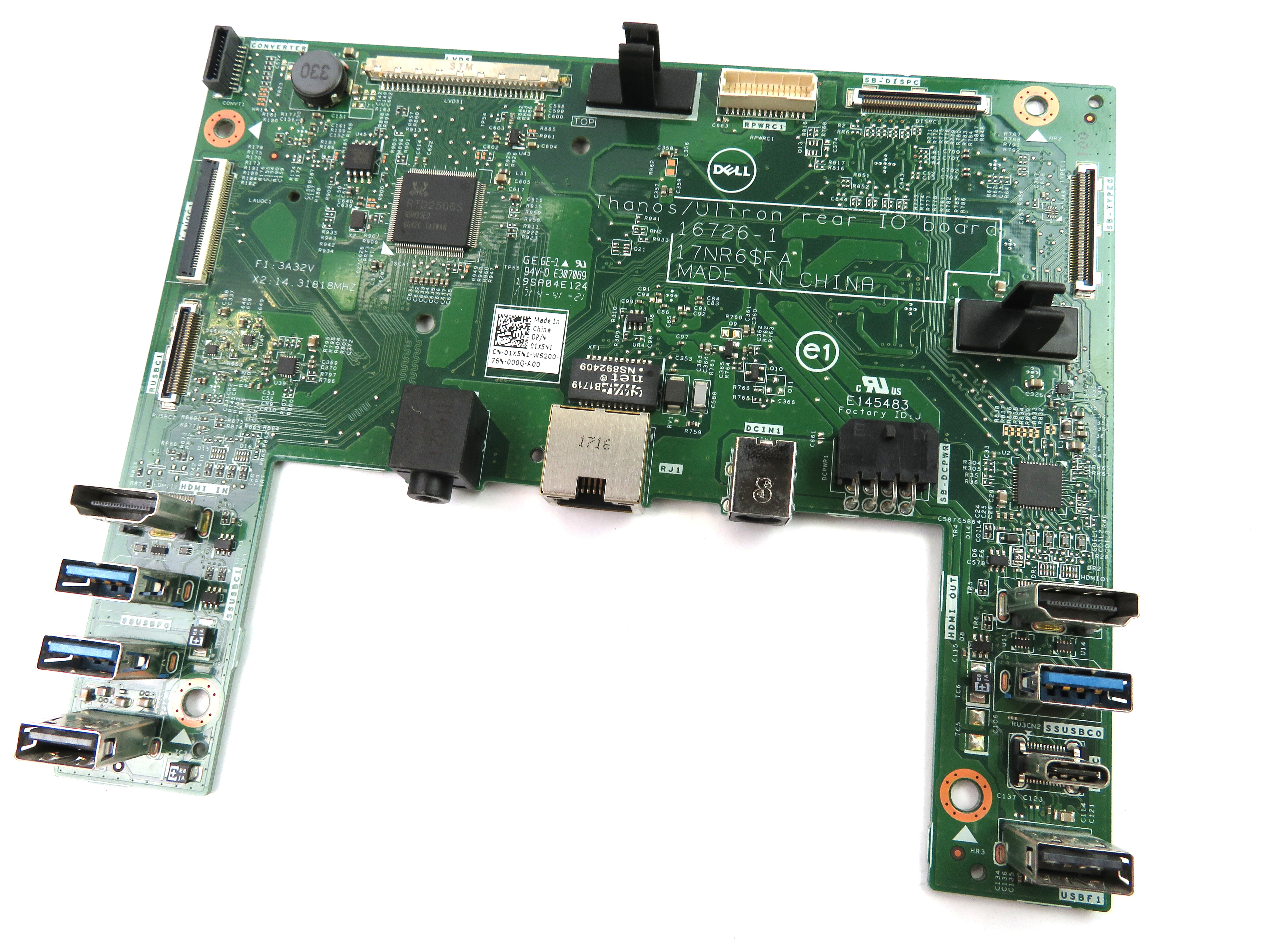 Dell 01X5N1 Rear I/O & Power Board /f Inspiron 24 Model 5475 Series - 1X5N1