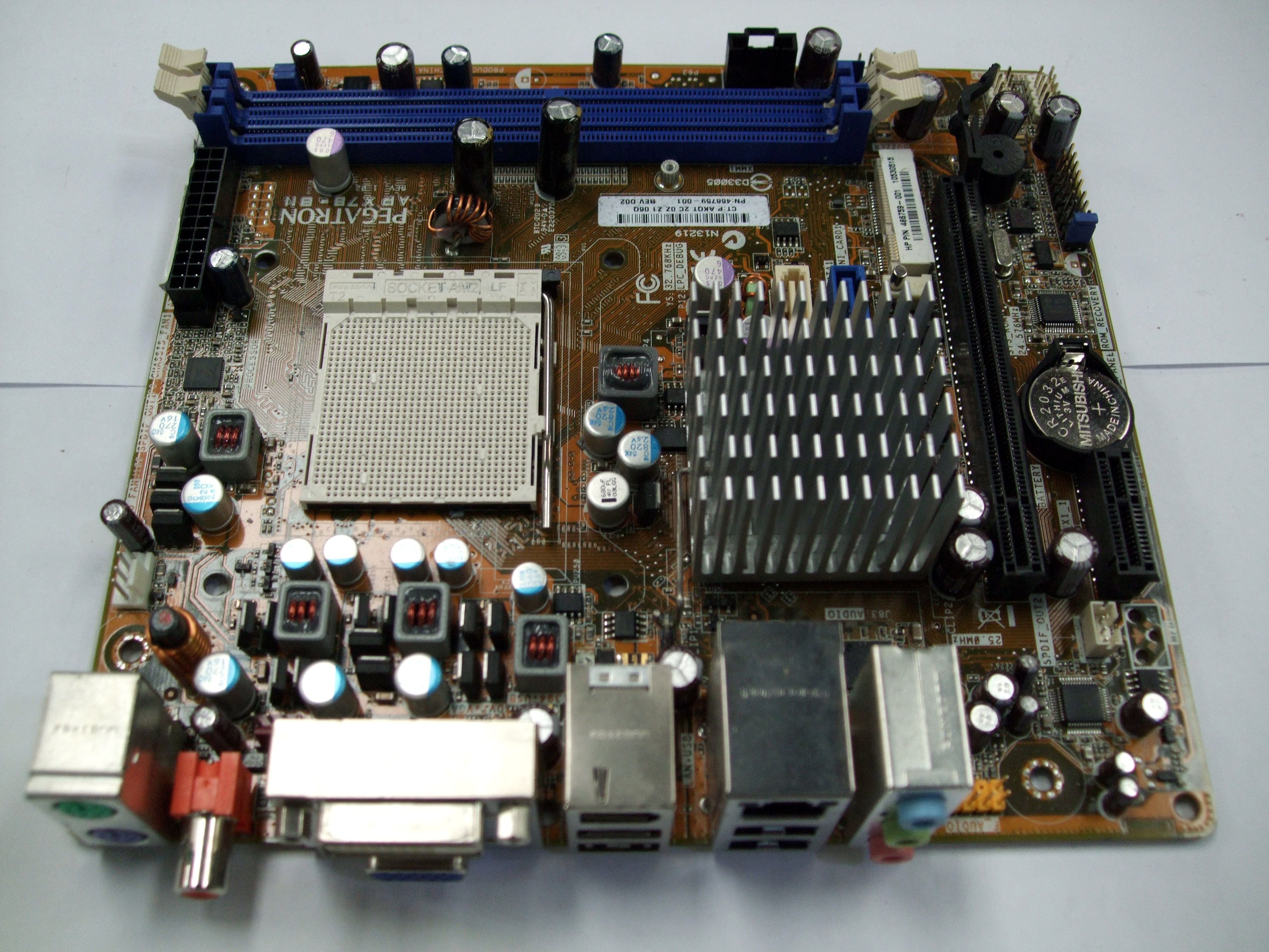 UNTESTED APX78-BN Pegatron Motherboard Rev 1.02 P/N 466759-001