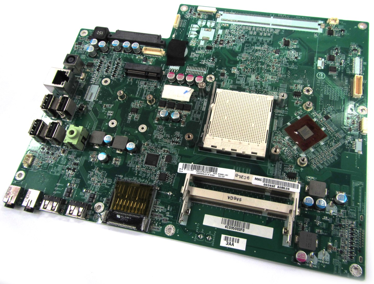 UNTESTED HP 597920-001 Pavilion MS200 MS215uk PC Motherboard - DA0ZN1MB6C0