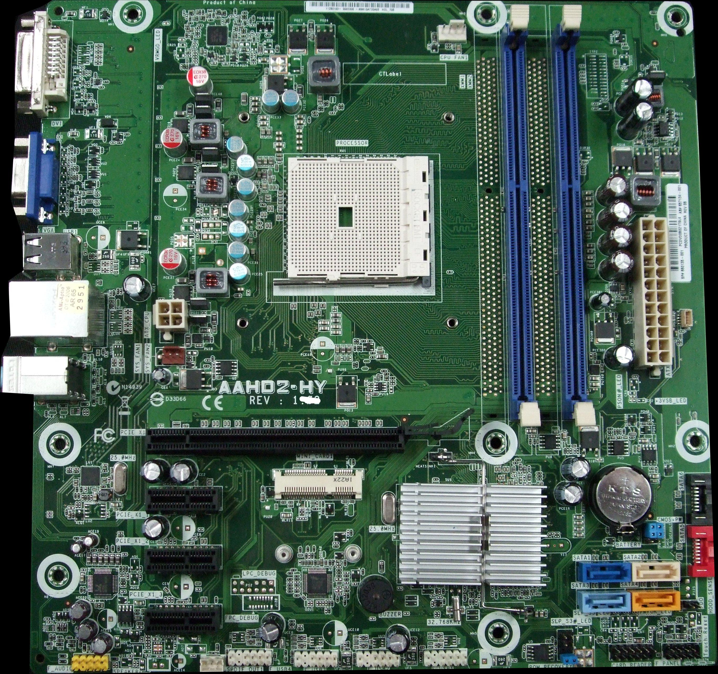 UNTESTED HP 660155-001 Socket AMD FM1 System Motherboard - AAHD2-HY