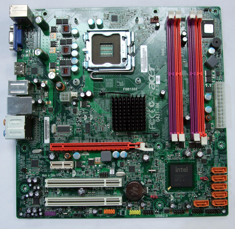 UNTESTED Acer G43T-AM V2.0 Socket 775 Motherboard