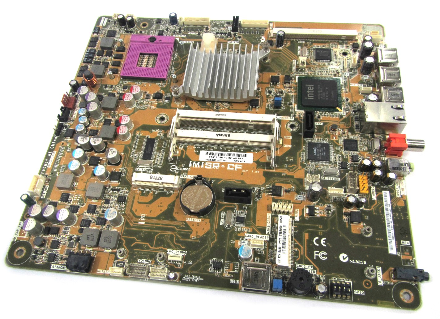 UNTESTED IMISR-CF 5189-2525 HP IQ500 / IQ800 Touchsmart Motherboard
