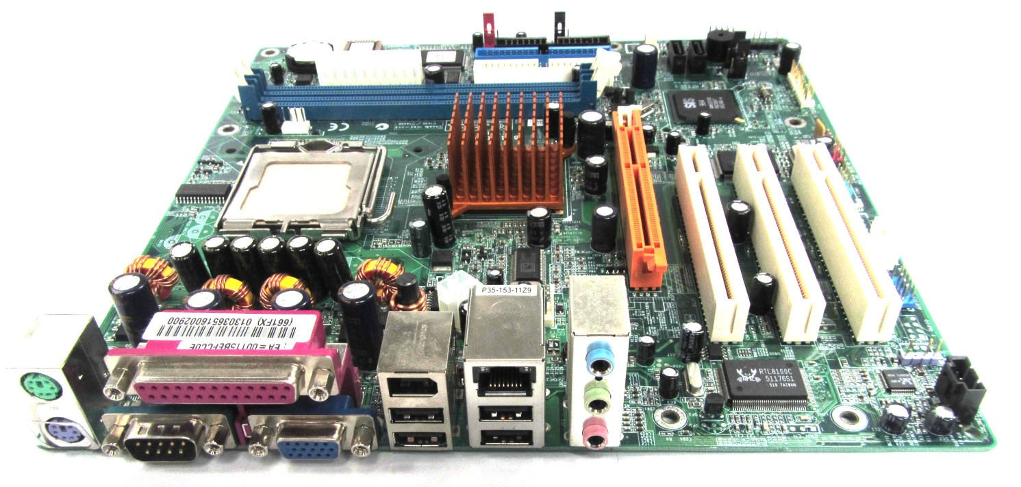 UNTESTED 661FX-M7 ECS PC Motherboard Intel LGA775 AGP Rev:1.1