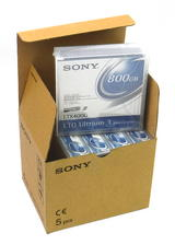 5x New Sony LTX400G Ultrium LTO3 400/800Gb Tapes