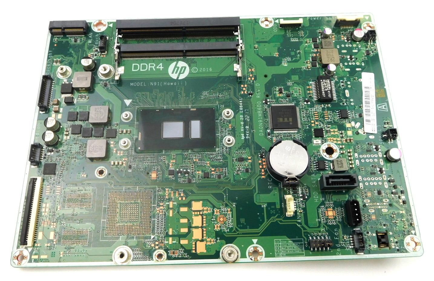 848949-007 HP AIO PC 24-ea030na Motherboard w/ BGA Core i3-7100U CPU /N91  Hawaii