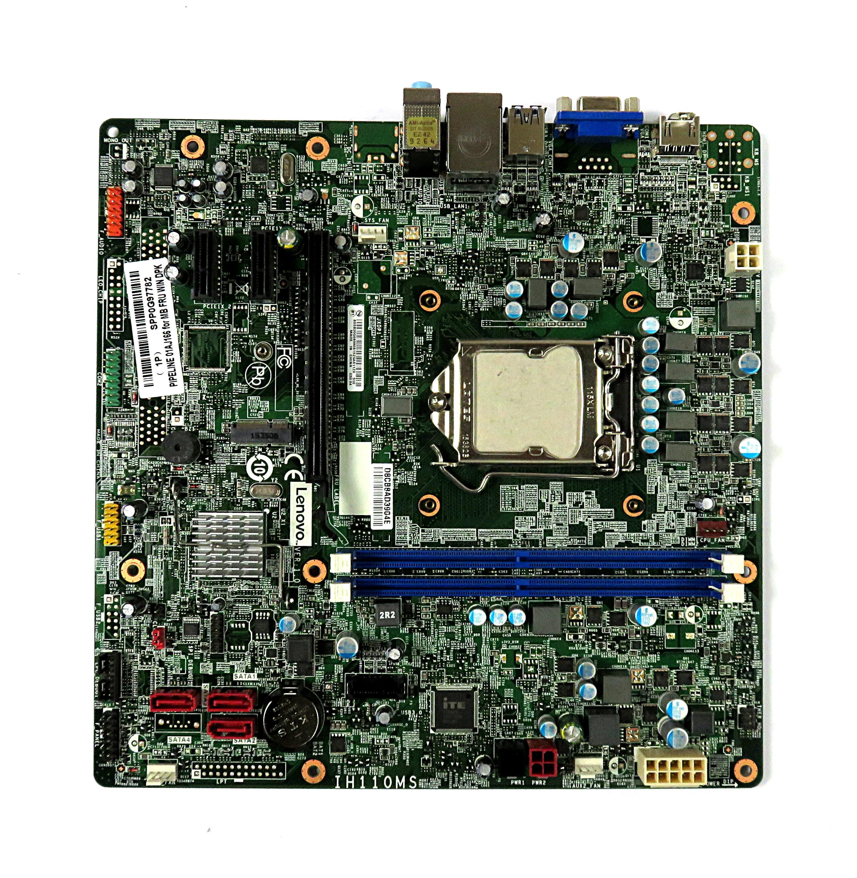 01AJ166 Lenovo Socket LGA1151 Motherboard IH110MS f/ ideacentre 300-11ISH