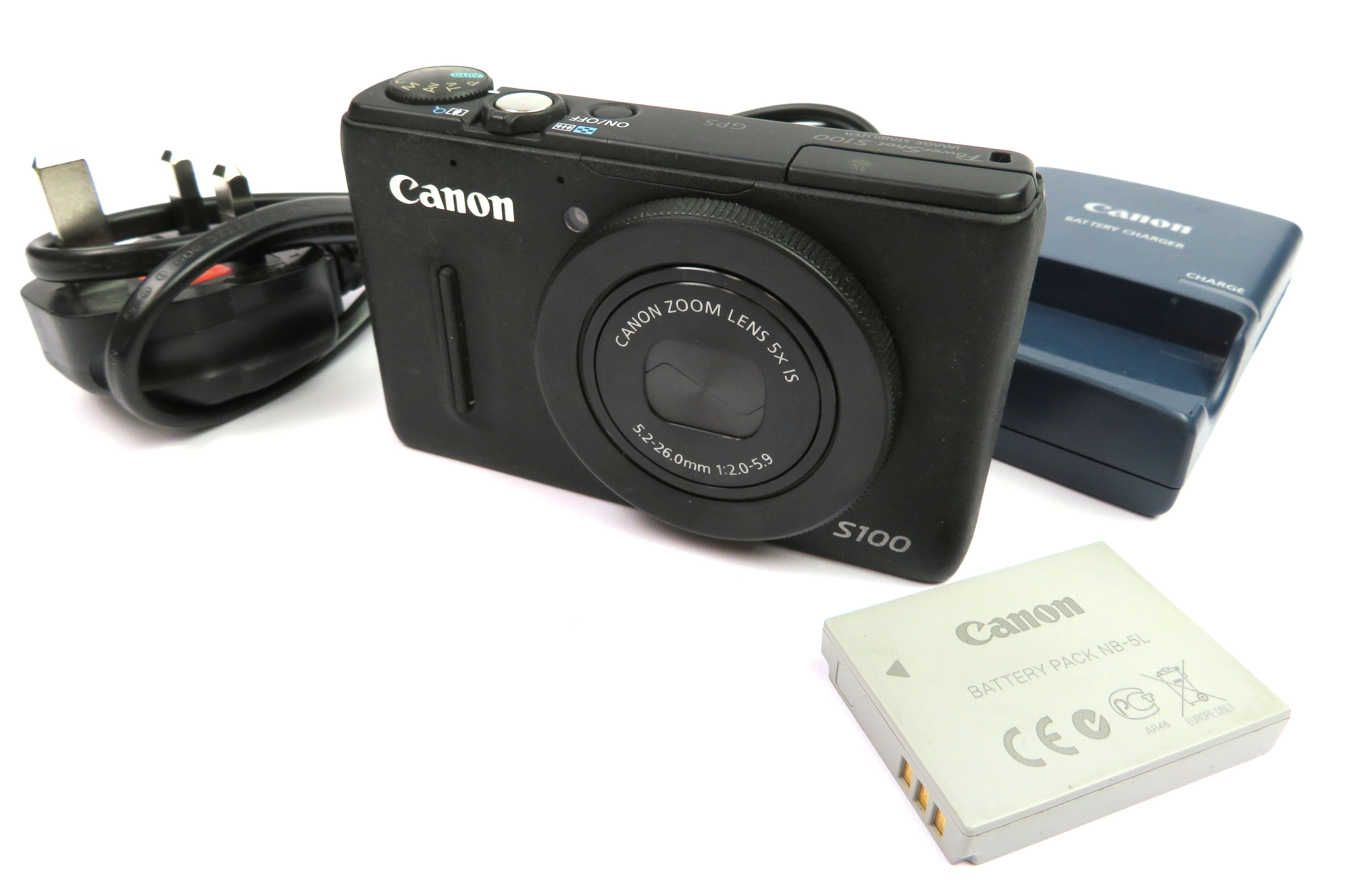 Canon PowerSHot S100 PC1675 High End Super Compact Camera - SN:463032012781