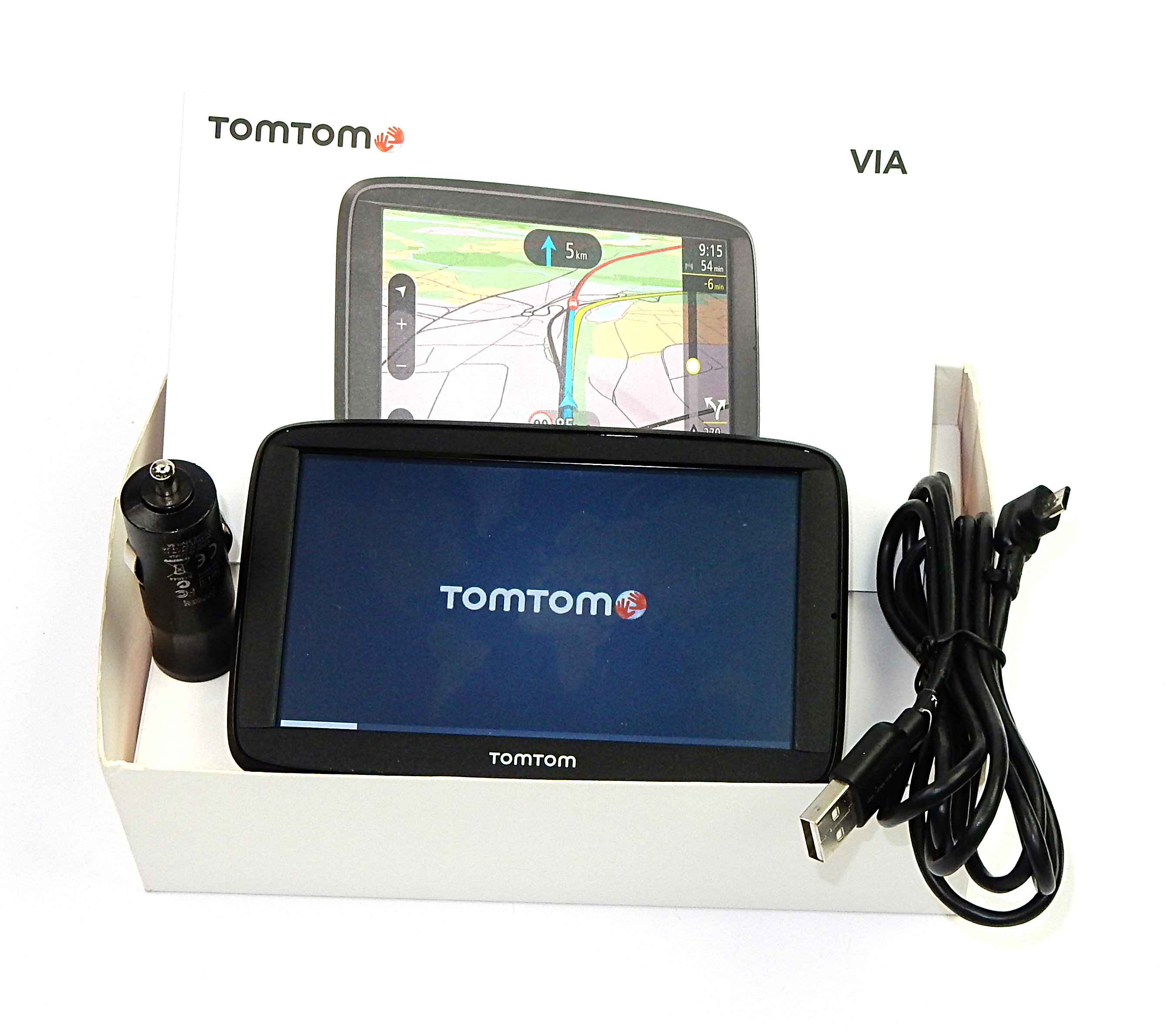 tomtom via 52 sat nav with western europe maps 4ap54. Black Bedroom Furniture Sets. Home Design Ideas