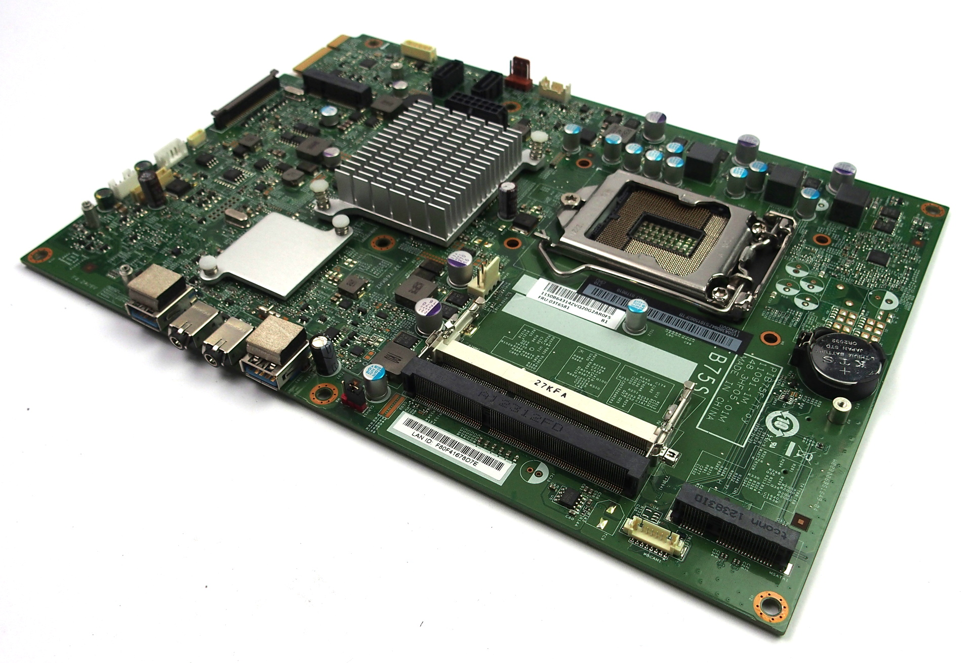 03T6581 Lenovo ThinkCentre Edge 92z AIO PC Motherboard PIB75F/Troy