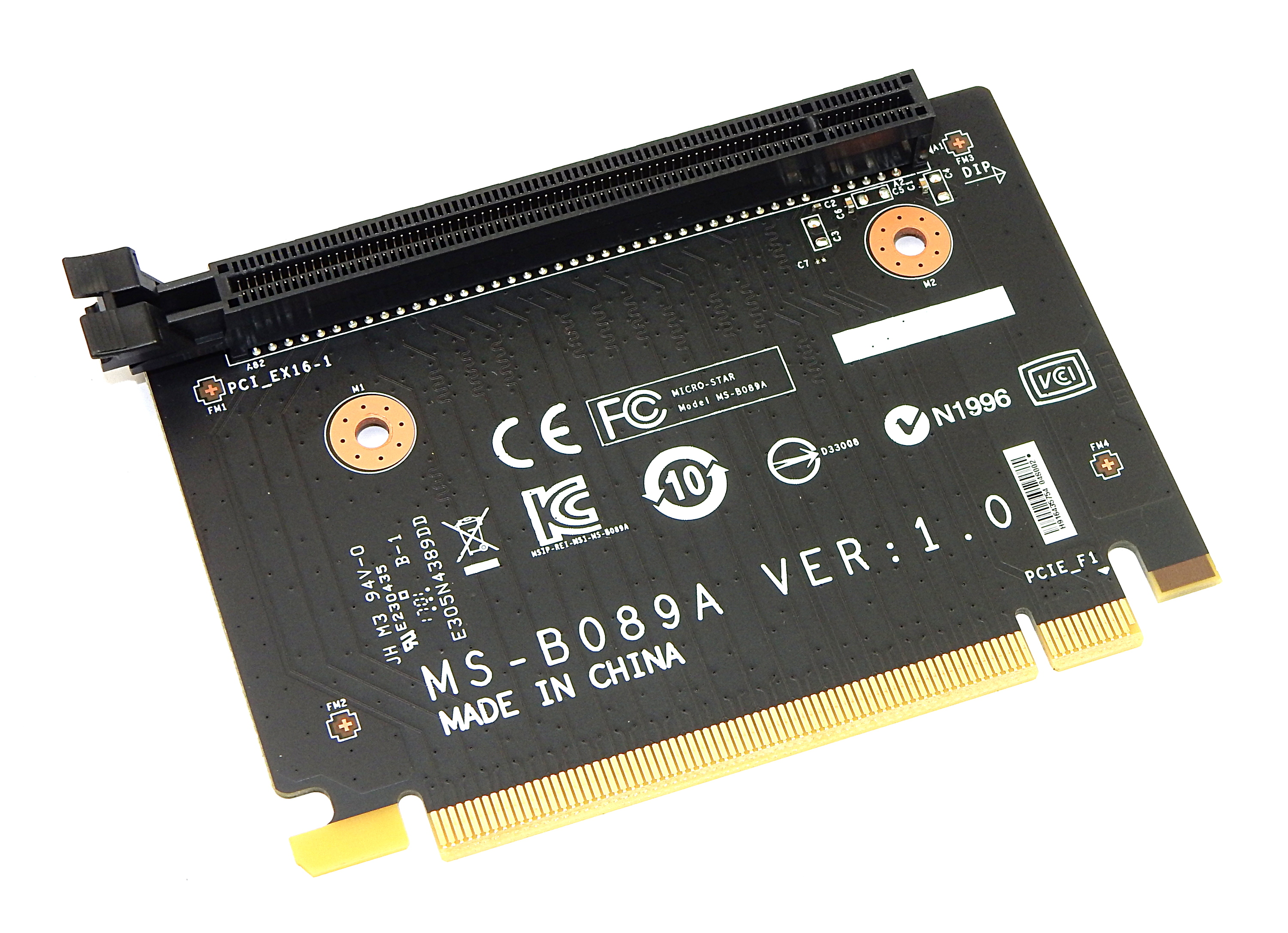 MSI MS-B089A PCI-e Riser Board Ver:1.0