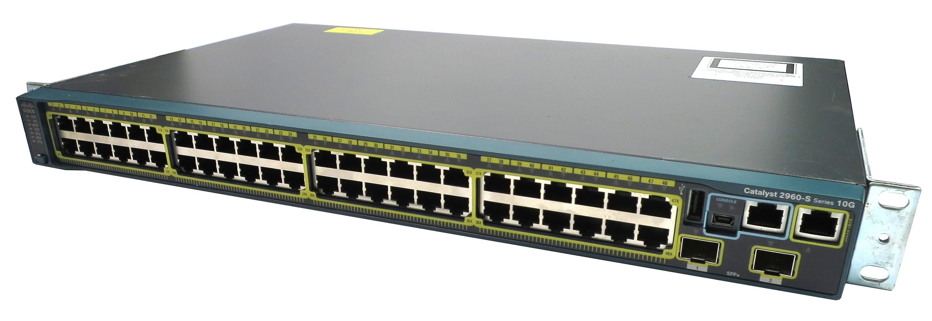 Cisco WS-C2960S-48TD-L V05 Catalyst 2960-S Series 48-Ports Gigabit + 2x10G  Ports