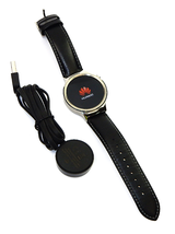Huawei Smart Watch 316L Stainless Steel Black Leather Straps