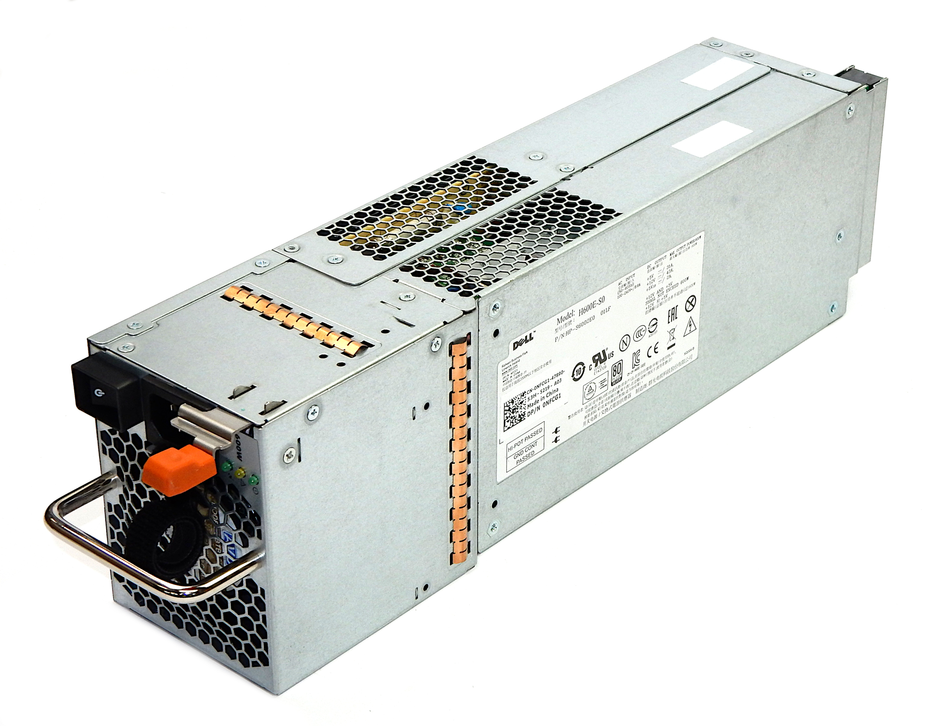 Dell NFCG1 PowerVault MD1220 600W Power Supply L600E-S0