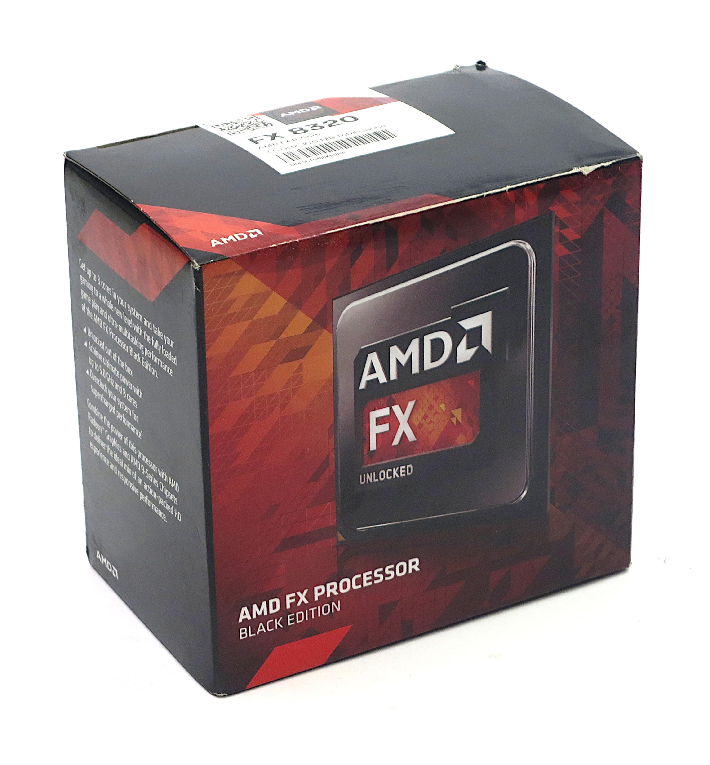 Amd Fx 8320 Black Edition 3 5 Ghz 8 Core Socket Am3 16mb Cache Cpu Processors Blackmore It