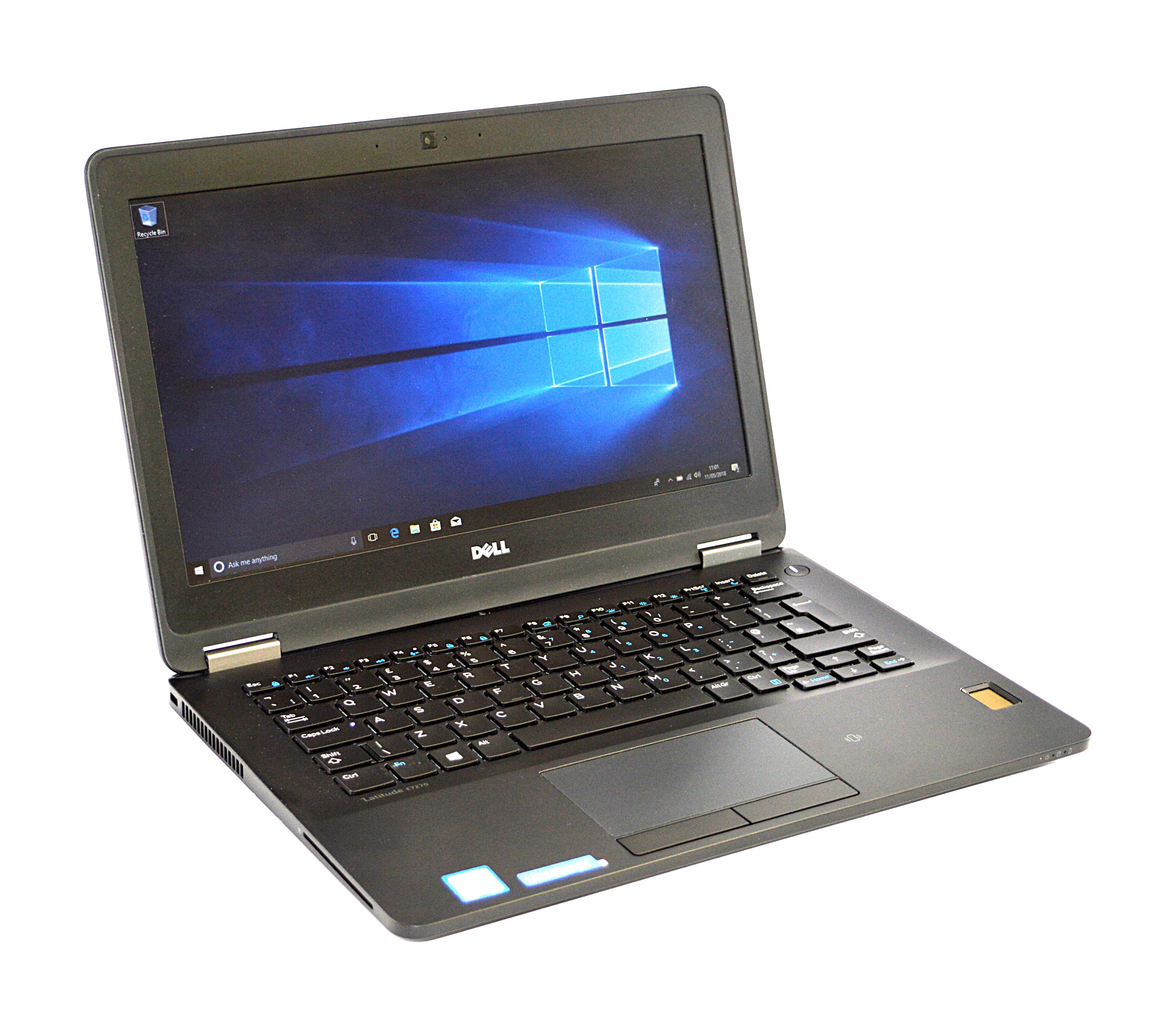 """Dell Latitude E7270 Laptop Core i5-6300U 16GB RAM 256GB SSD 12.5"""" Windows 10"""