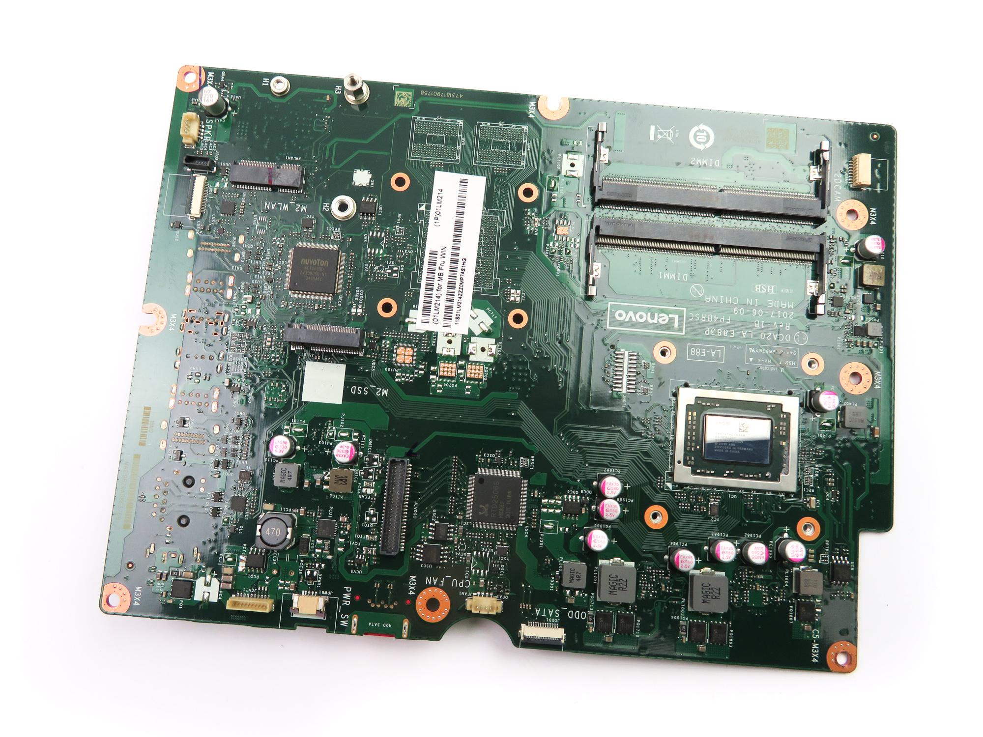 01LM214 Lenovo MotherBoard /w AMD A12 7th Gen CPU /f Ideacentre 520 AIO PC