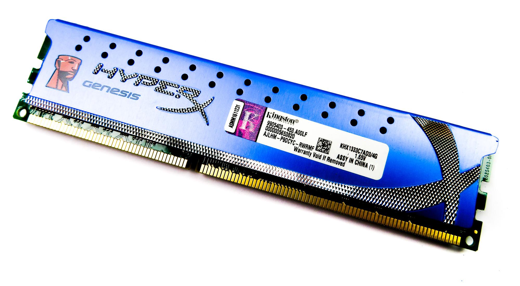 Kingston KHX1333C7AD3/4G HyperX Genesis 4GB (1X4GB) 10600 DDR3 PC3 DIMM RAM