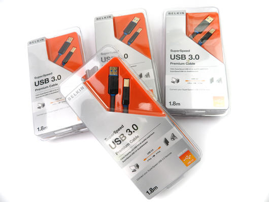 X4 Belkin USB 3.0 Super Speed Premium Cables A To B 1.8m For Printer,HDD,Scanner