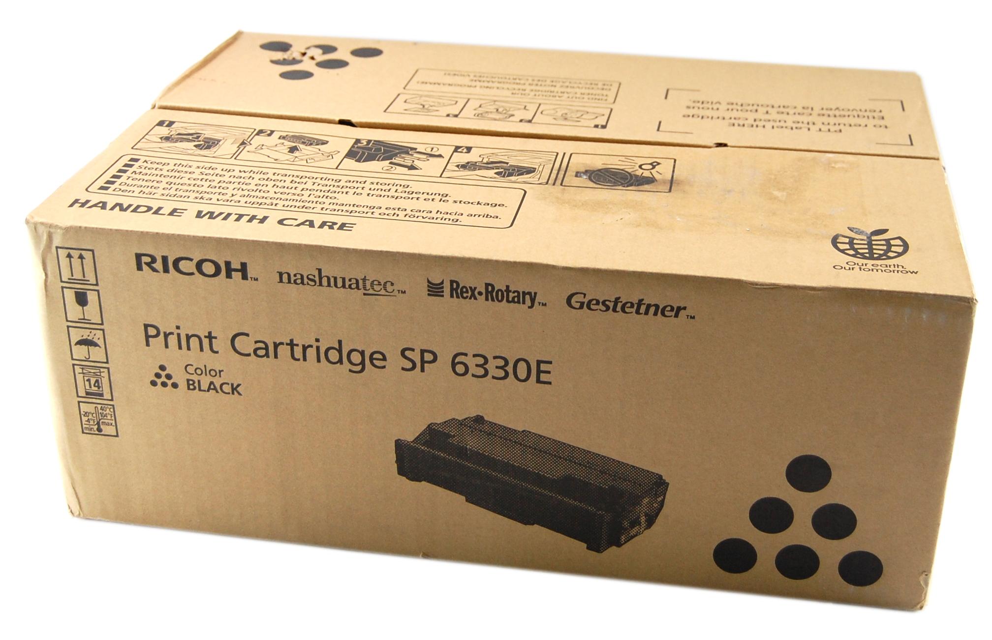 New Ricoh G296-35 Print Cartridge SP 6330E Color Black