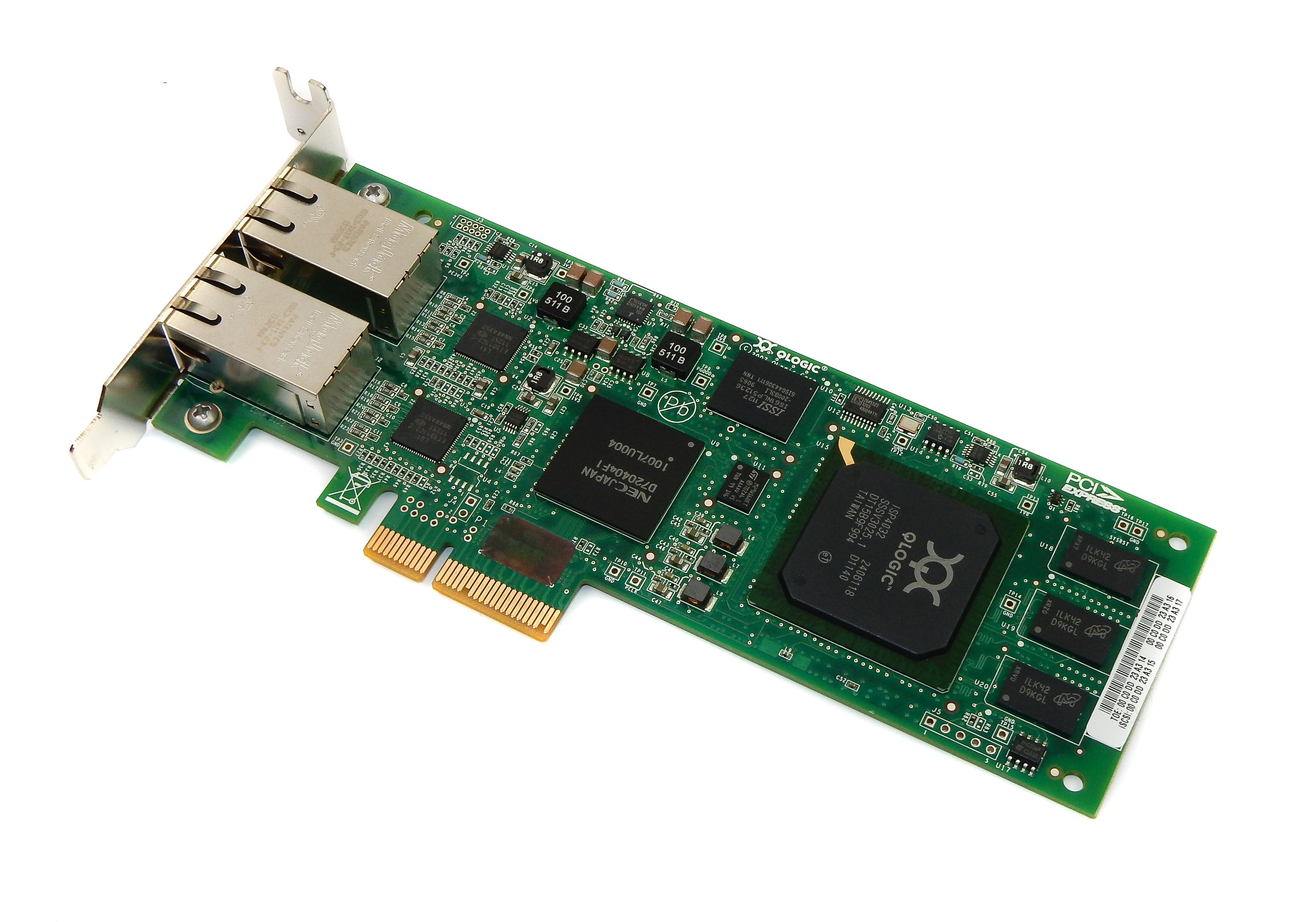Qlogic QLE4062C Dual Port PCI-e Gigabit Ethernet Adapter IX4010402-11 C9C50 / LP