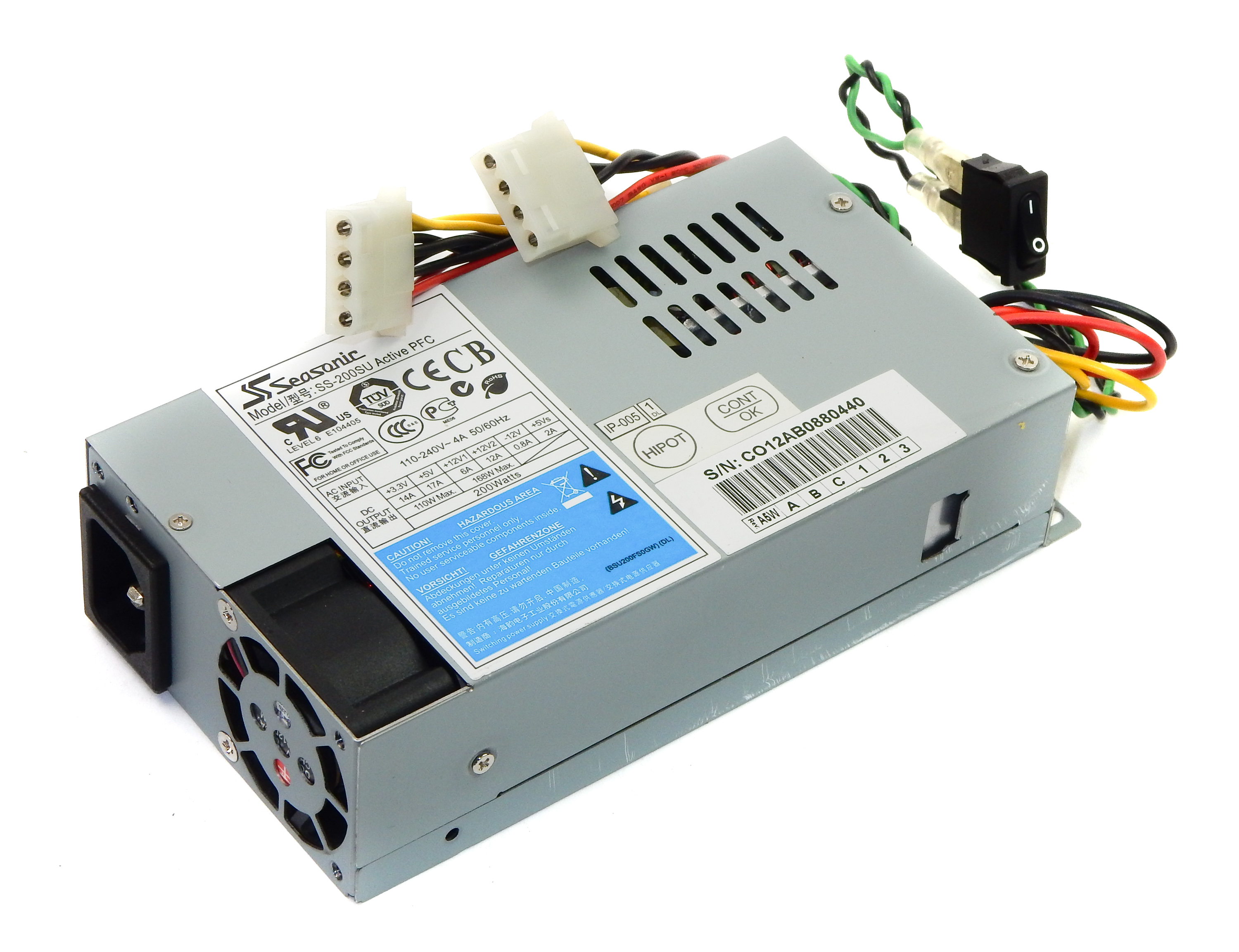 Seasonic SS-200SU Active PFC 200W Power Supply FlexATX f/ GSP-ES