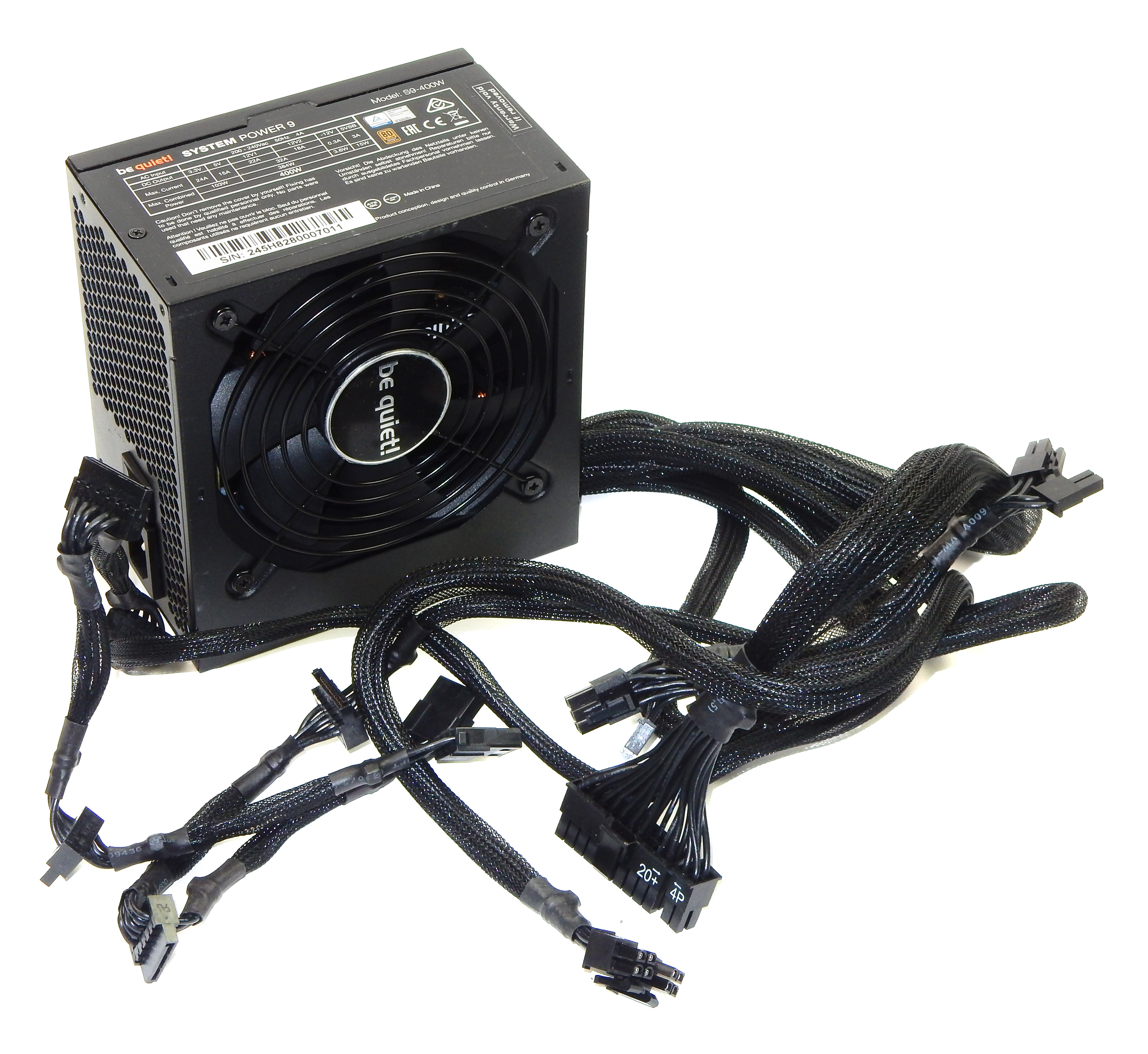 Be Quiet! S9-400W System Power 9 400W Power Supply 80 Plus