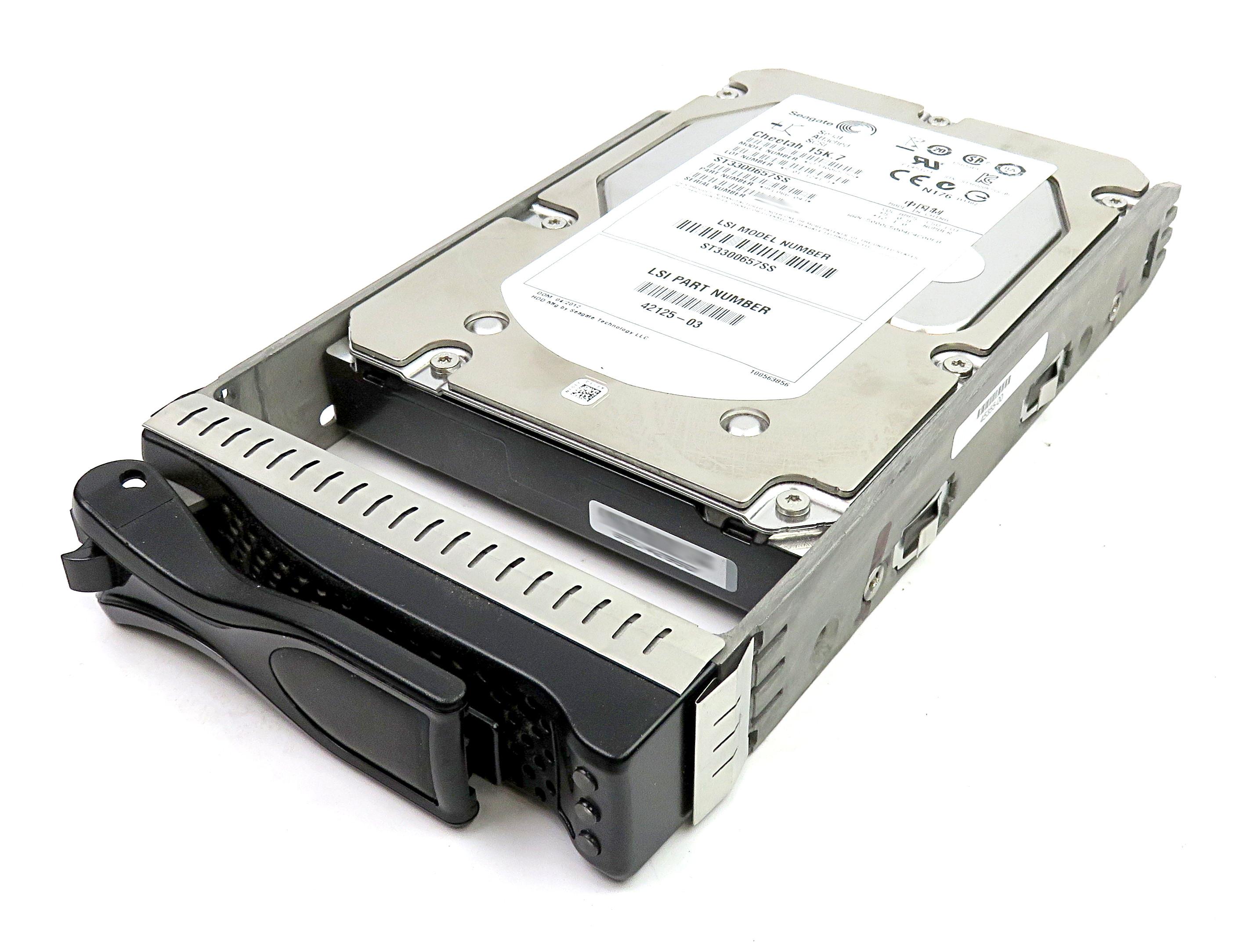 """Seagate Cheetah 15K.7 300GB 3.5"""" 15K RPM SAS HDD 9FL066-043 ST3300657SS in Caddy"""