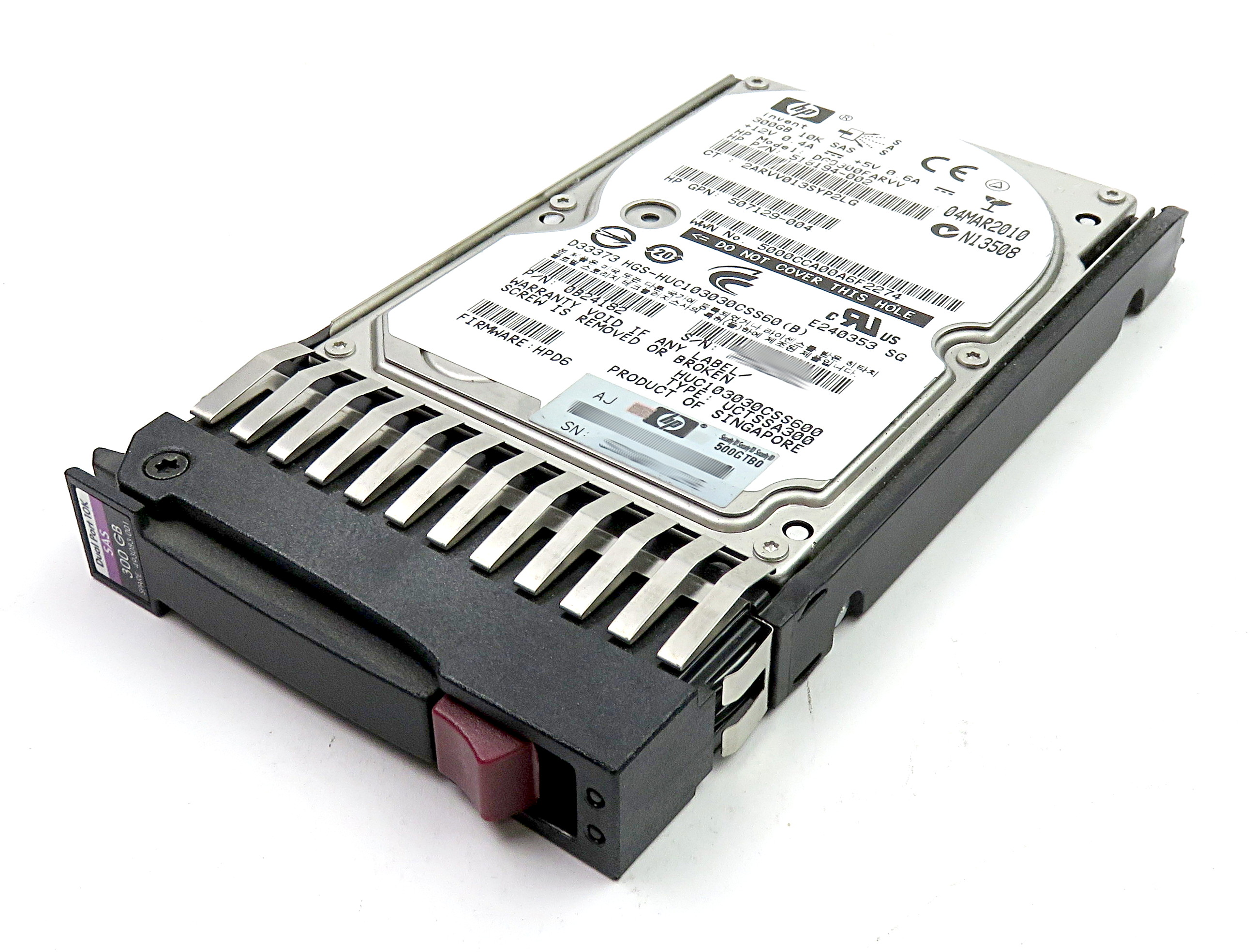 "HP 518194-002 300GB 2.5"" 10K SAS HDD DG0300FARVV in Caddy 493083-001"