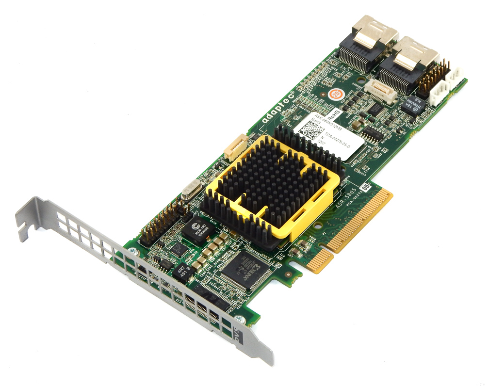 Adaptec ASR-5805/512MB 8-Port PCI-e SAS RAID Controller Card
