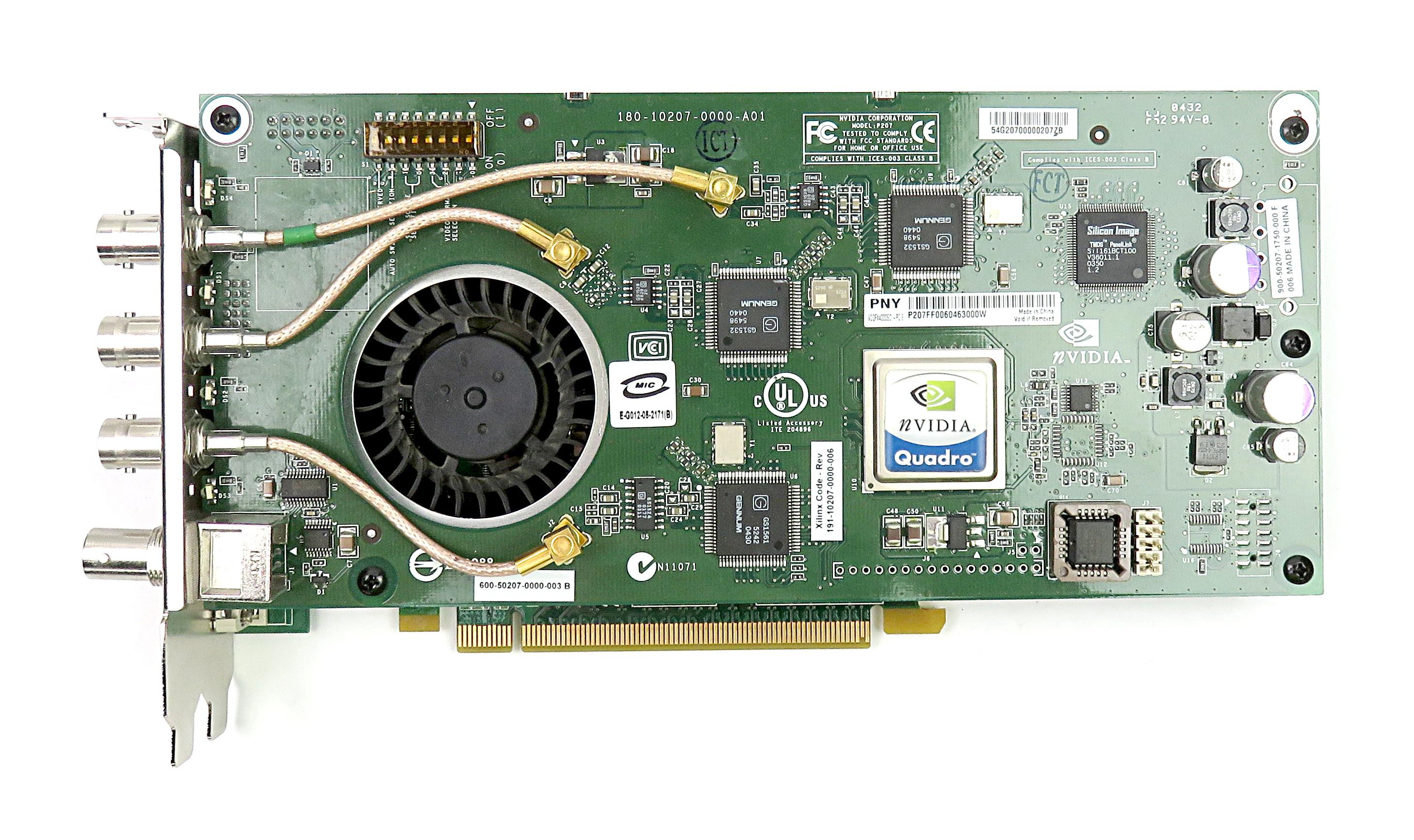 Pny nVidia Quadro FX3540/4000 256MB GDDR3 Video Card VCQFX4000SDI-PCIE DVI/4xBNC