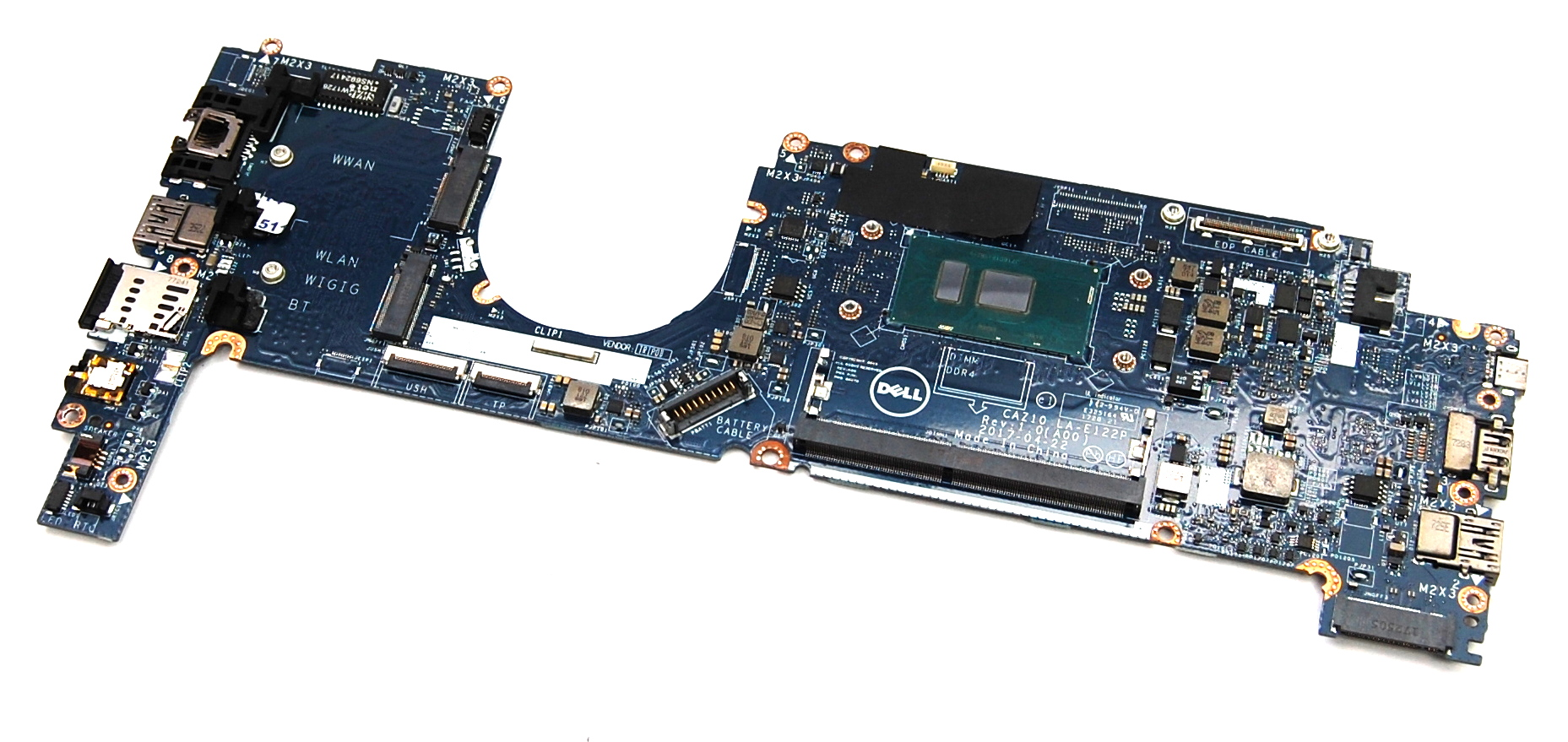 Dell 9PJNK Latitude 7280 Laptop Motherboard with Intel i5-6300U CPU