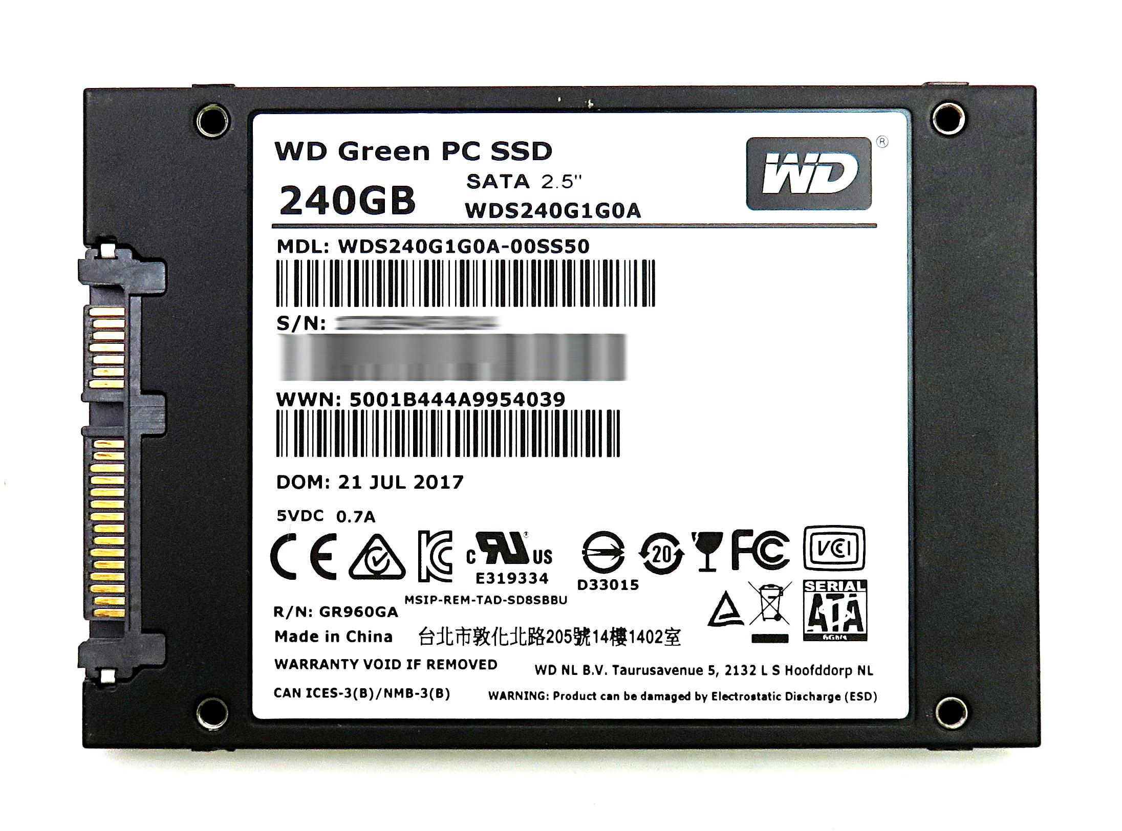 """/Western Digital Green 240GB 2.5"""" 7mm SATA 6Gb/s SSD ..."""
