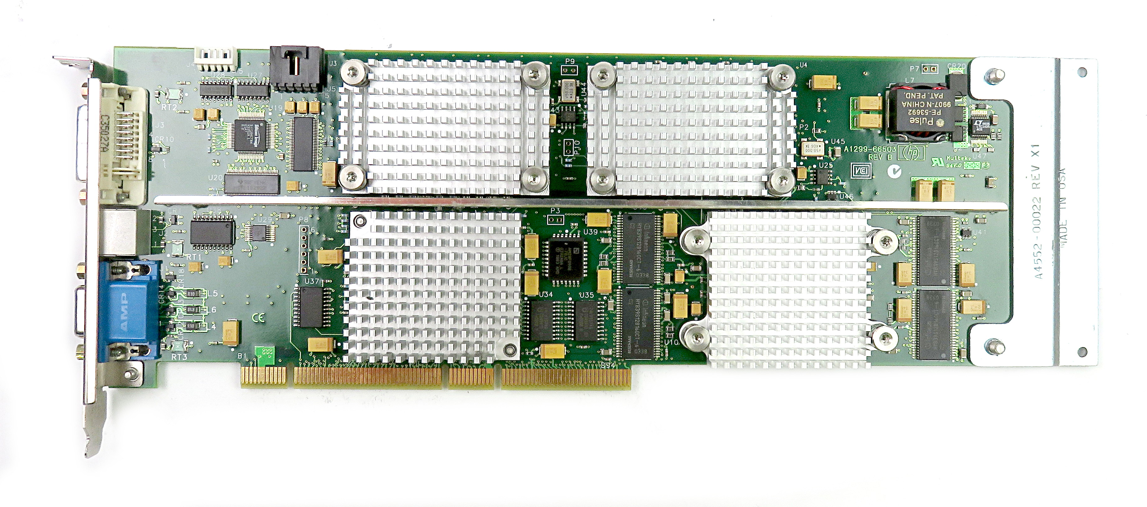 HP Visualize FX10 PCI-X 3.3V 128MB A1299-66503 C3600 Unix Workstation Video Card