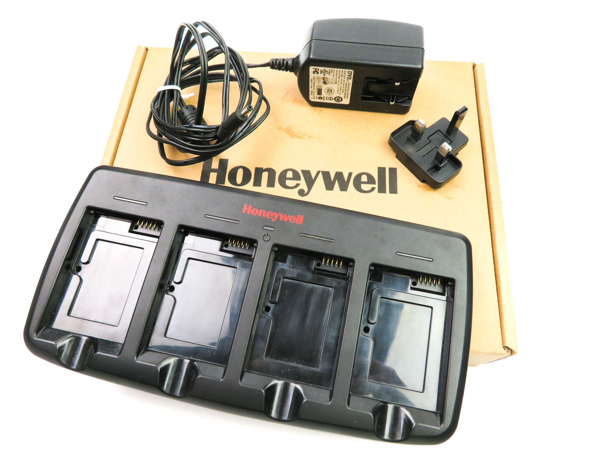 *New* Honeywell COMMON-QC-3 Quadcharger & PSU /f Dolphin 60s 70e 75e Batteries