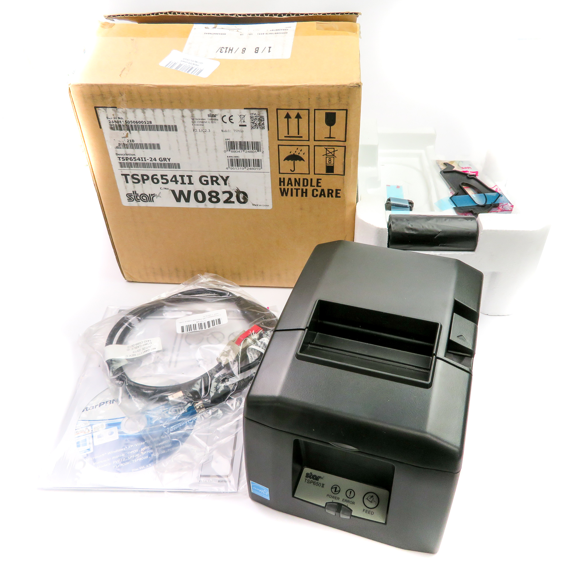 *New* Star Micronics TSP650 USB Thermal ePOS Receipt Printer TSP654II-24 GRY