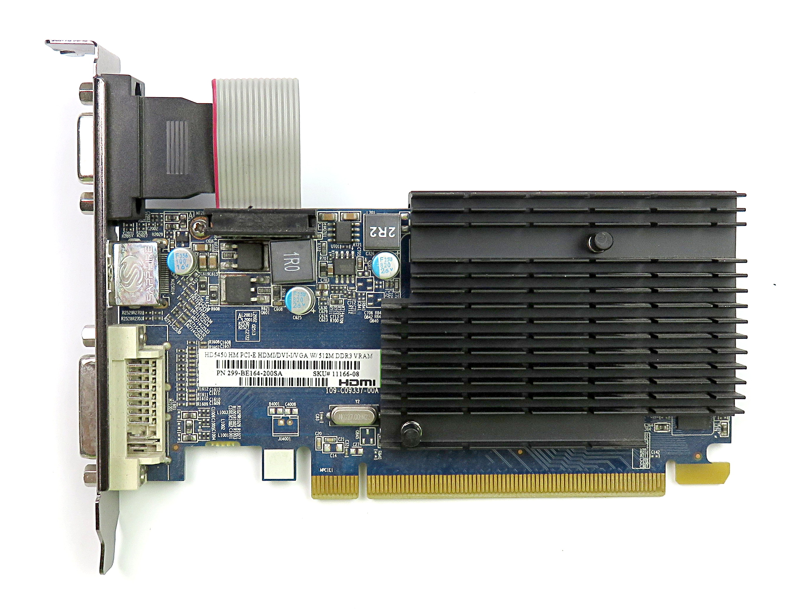 Sapphire 299-BE164-200SA Radeon HD5450 512MB DDR3 HDMI/DVI-I/VGA Graphics Card