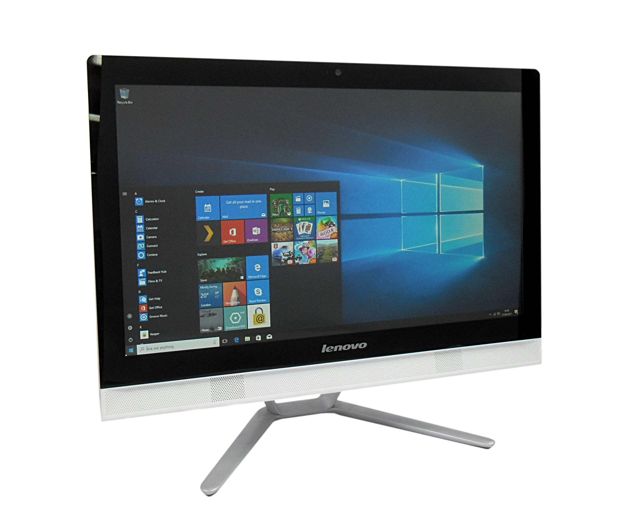"Lenovo C40-30 21.5"" Pent 3805U/500GB HDD/8GB RAM/Non-Touch All in One PC Grade B"
