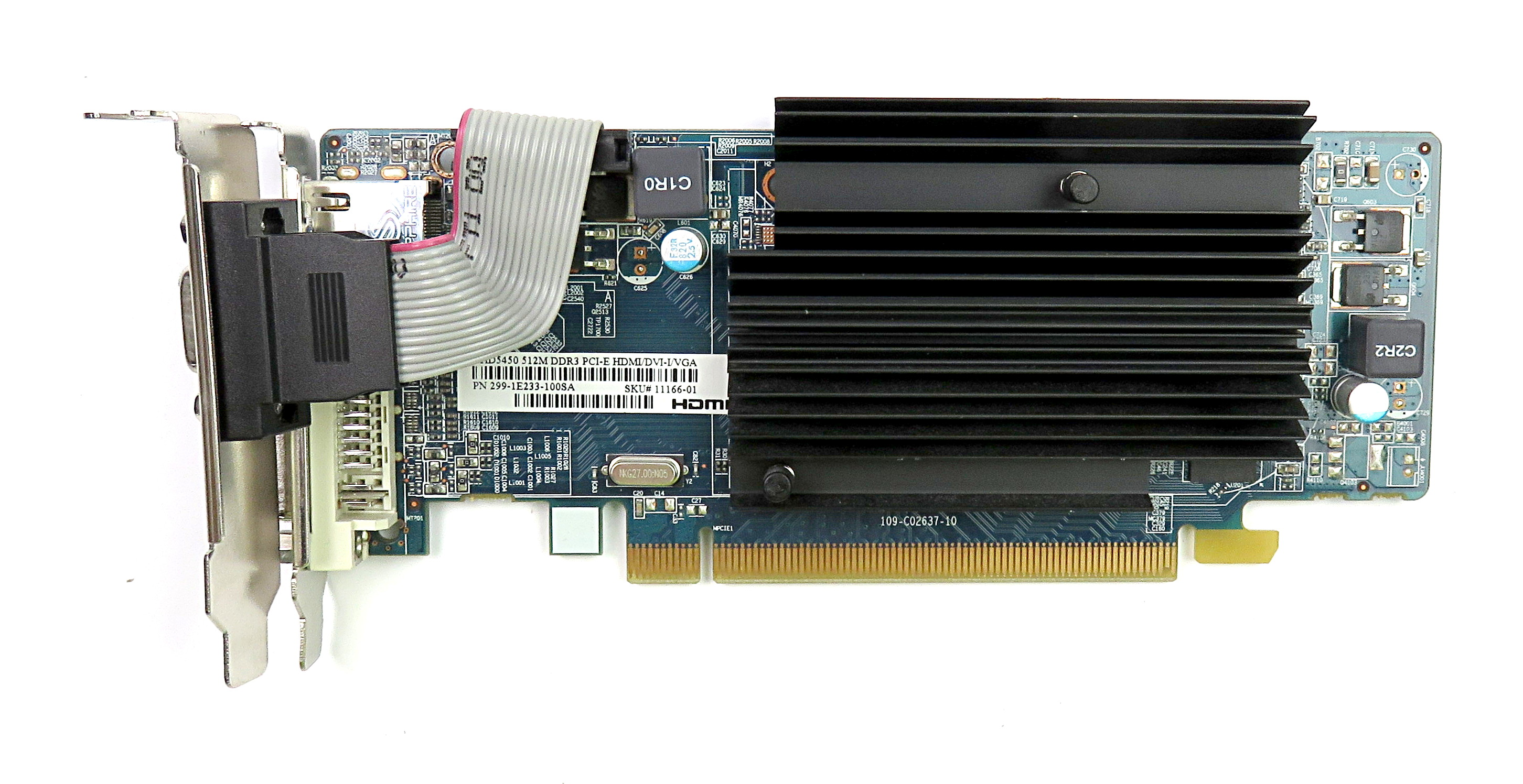 Sapphire 299-1E233-100SA Radeon HD5450 512MB LP Graphics Card HDMI/DVI/VGA