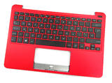 Asus 90NL0734-R31UK0 UK Keyboard Palmrest /f Notebook X Series X205TA Red