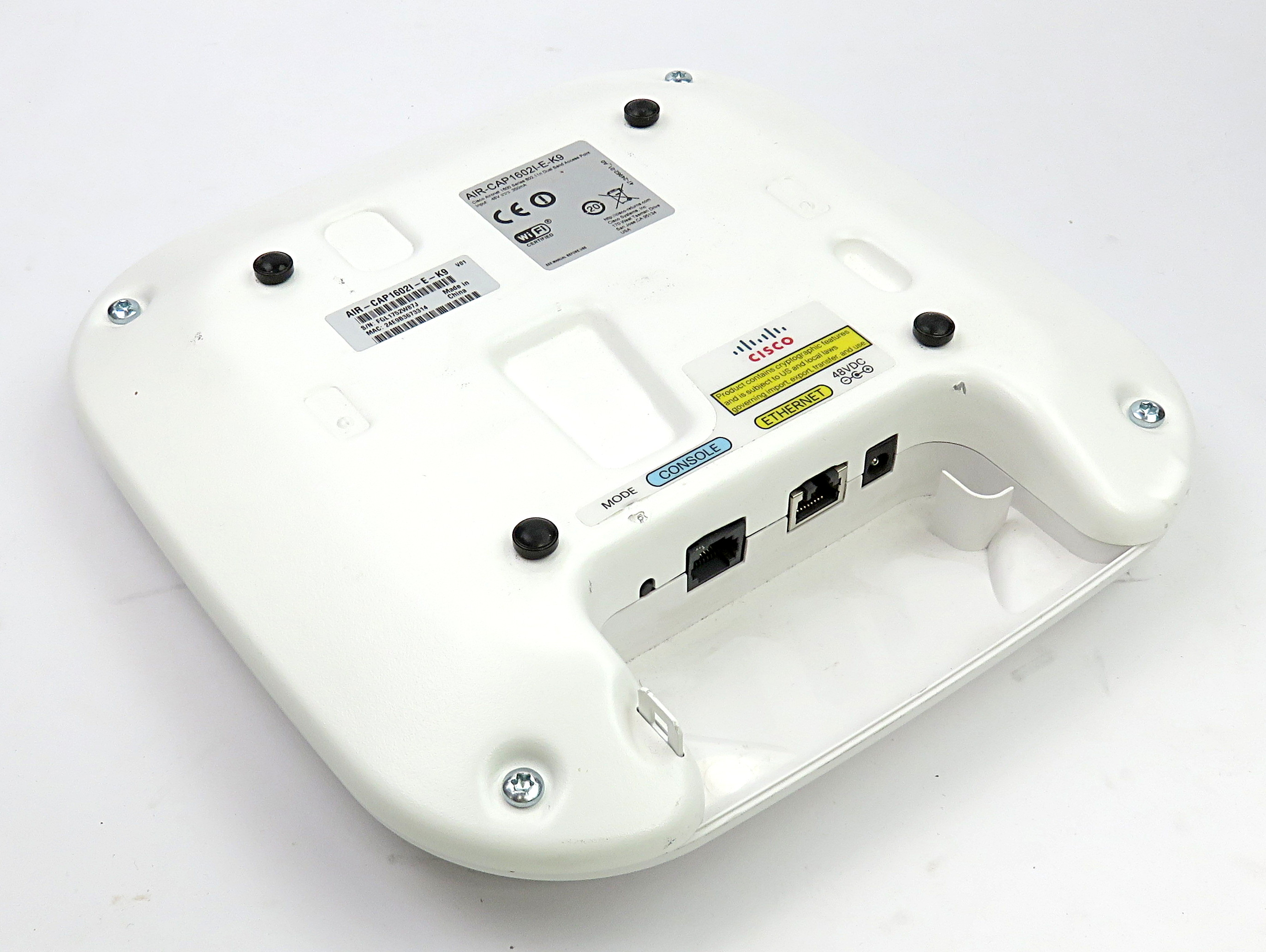 Set of Four Cisco AIR-CAP1602I-E-K9 Dual-band 802.11a/g/n Wireless Access Points