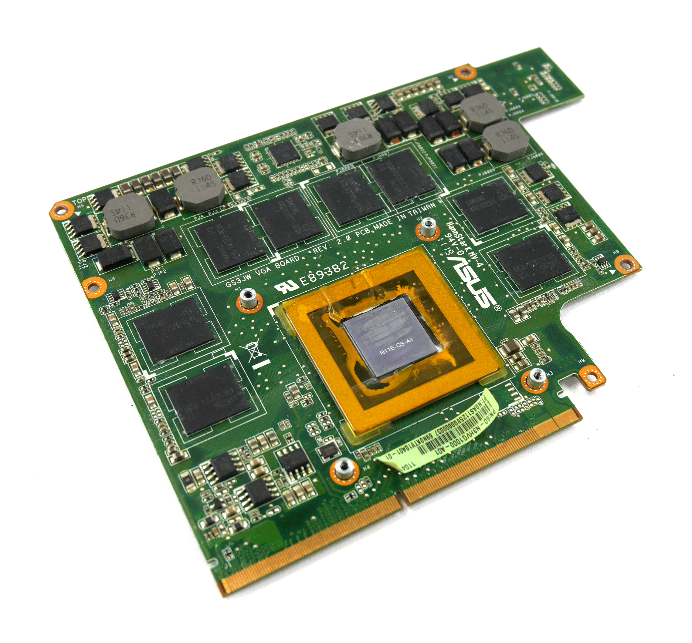 60-N3HVG1000-A01 Asus G53S ROG GTX 460M 1.5GB Graphics Card