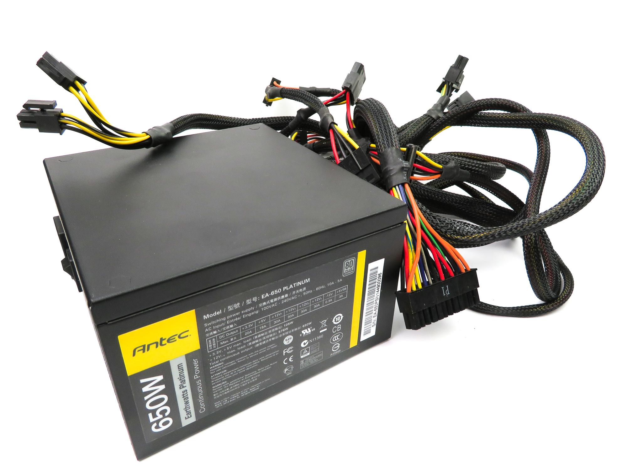 Antec EA-650 Earthwatts Platinum 650W 80+ ATX PSU
